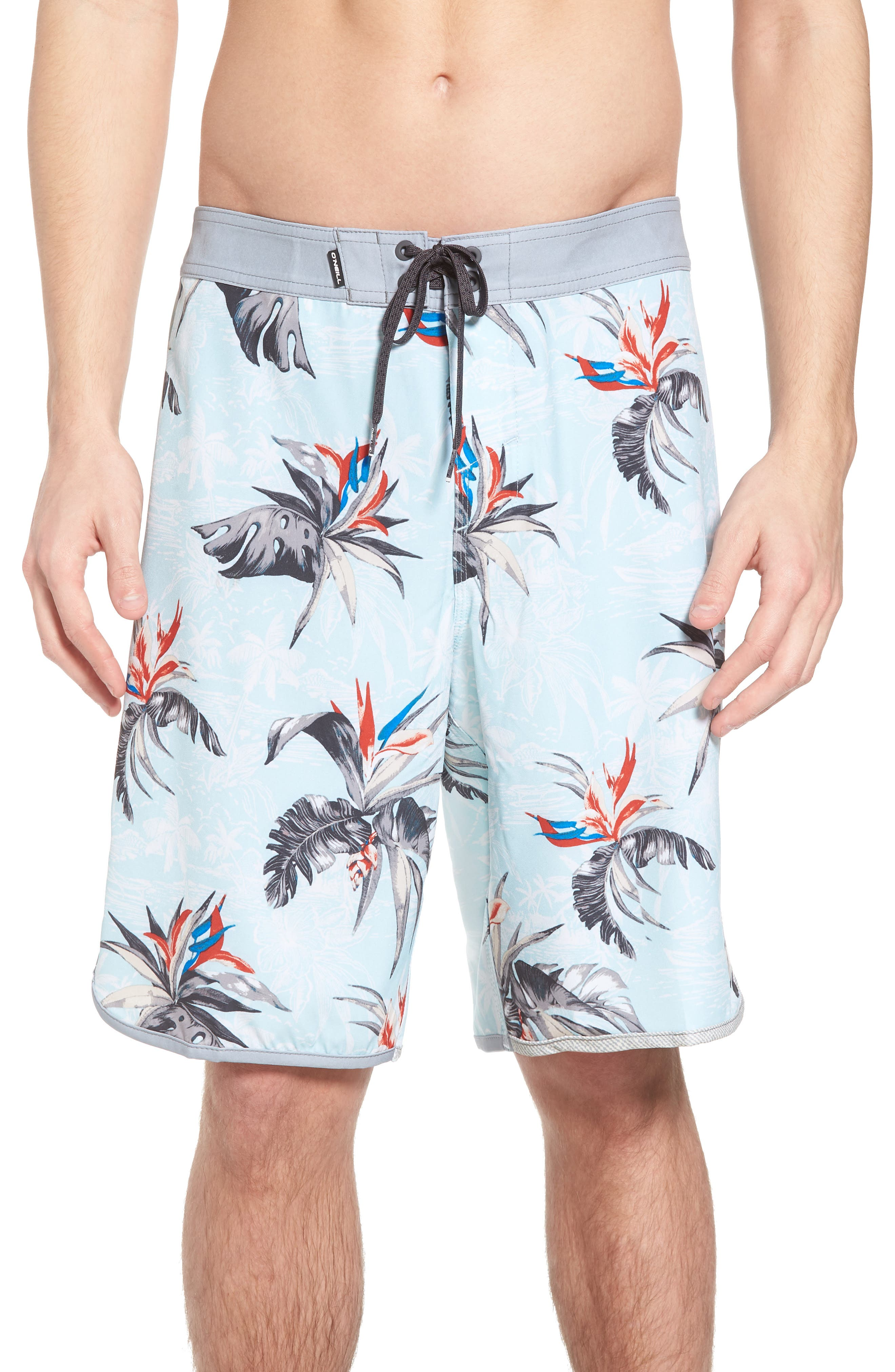 Hyperfreak Islander Board Shorts,                             Main thumbnail 1, color,                             Ice Blue