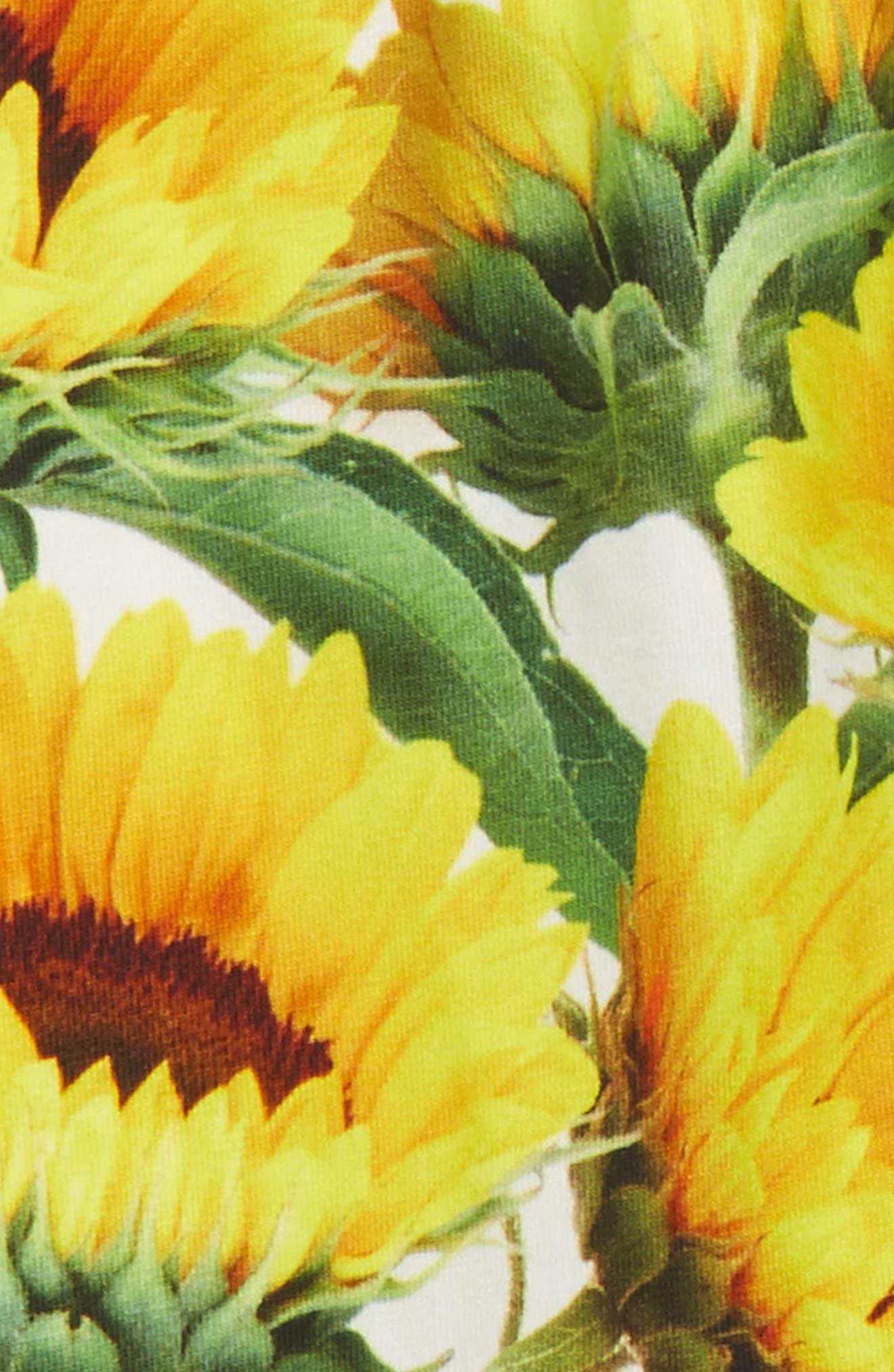 Niki Sunflower Leggings,                             Alternate thumbnail 2, color,                             Sunflower Fields