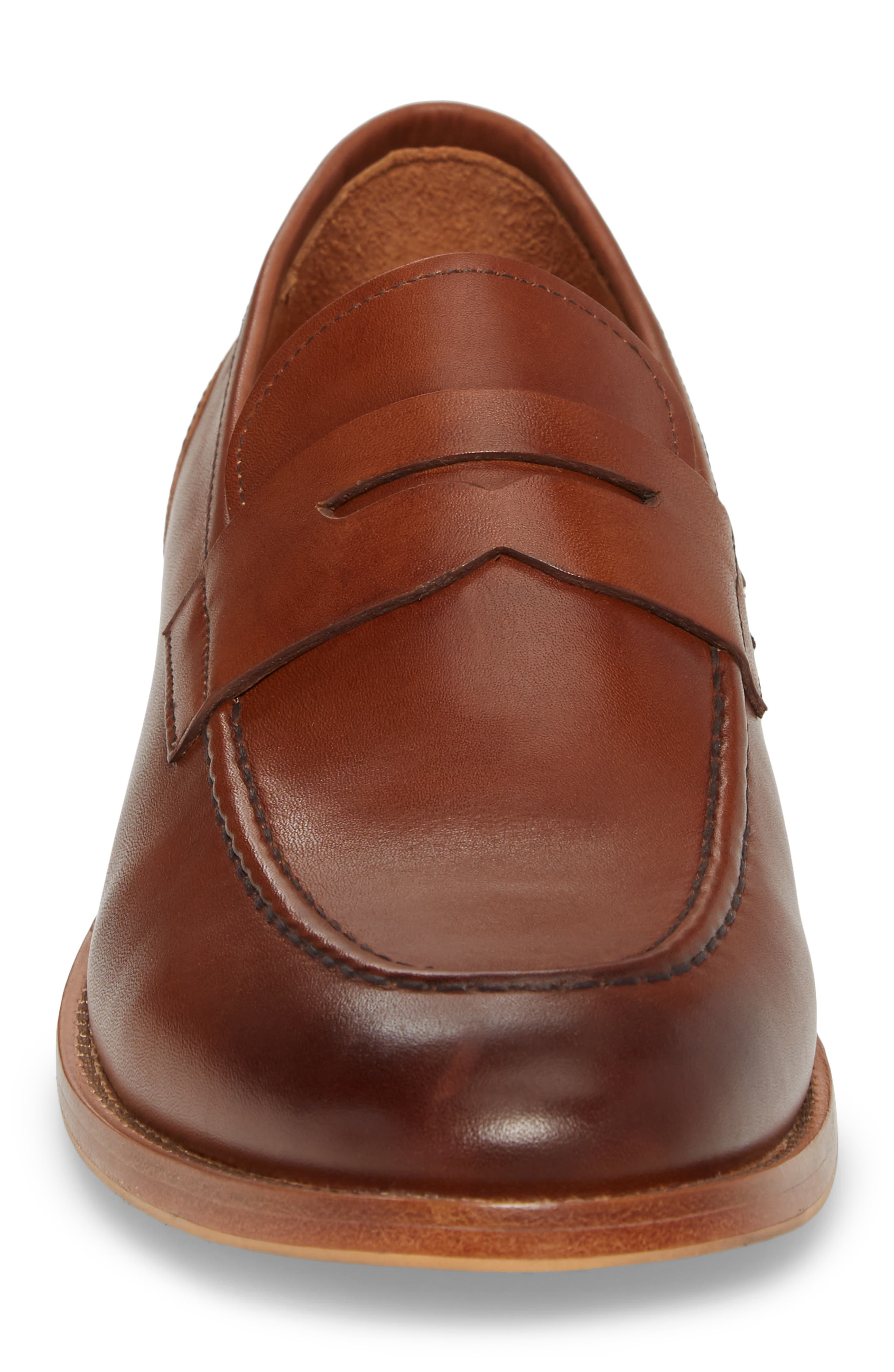 Lucas Loafer,                             Alternate thumbnail 4, color,                             Luggage Leather