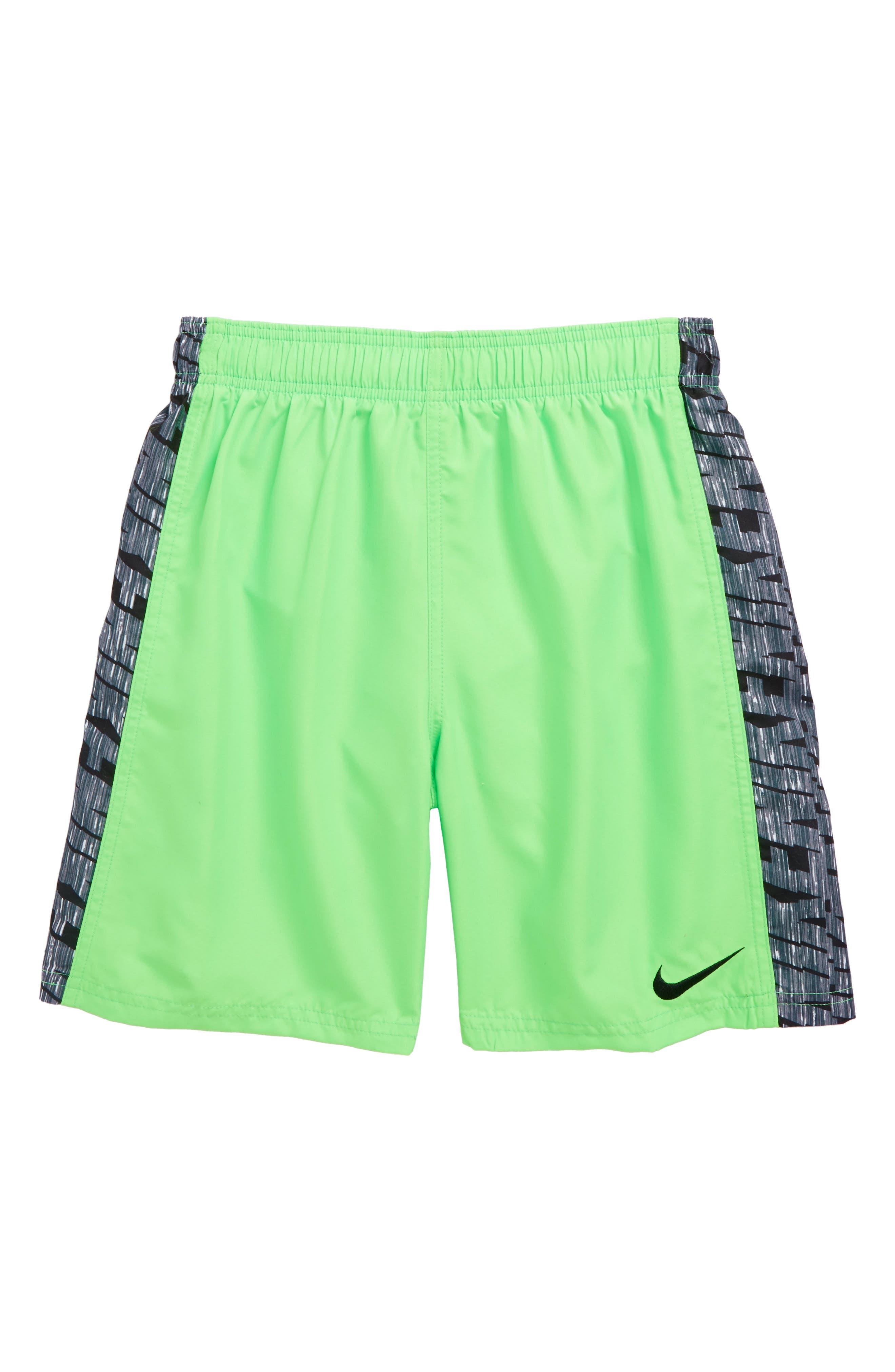 Racer Volley Shorts,                             Main thumbnail 1, color,                             Green Strike