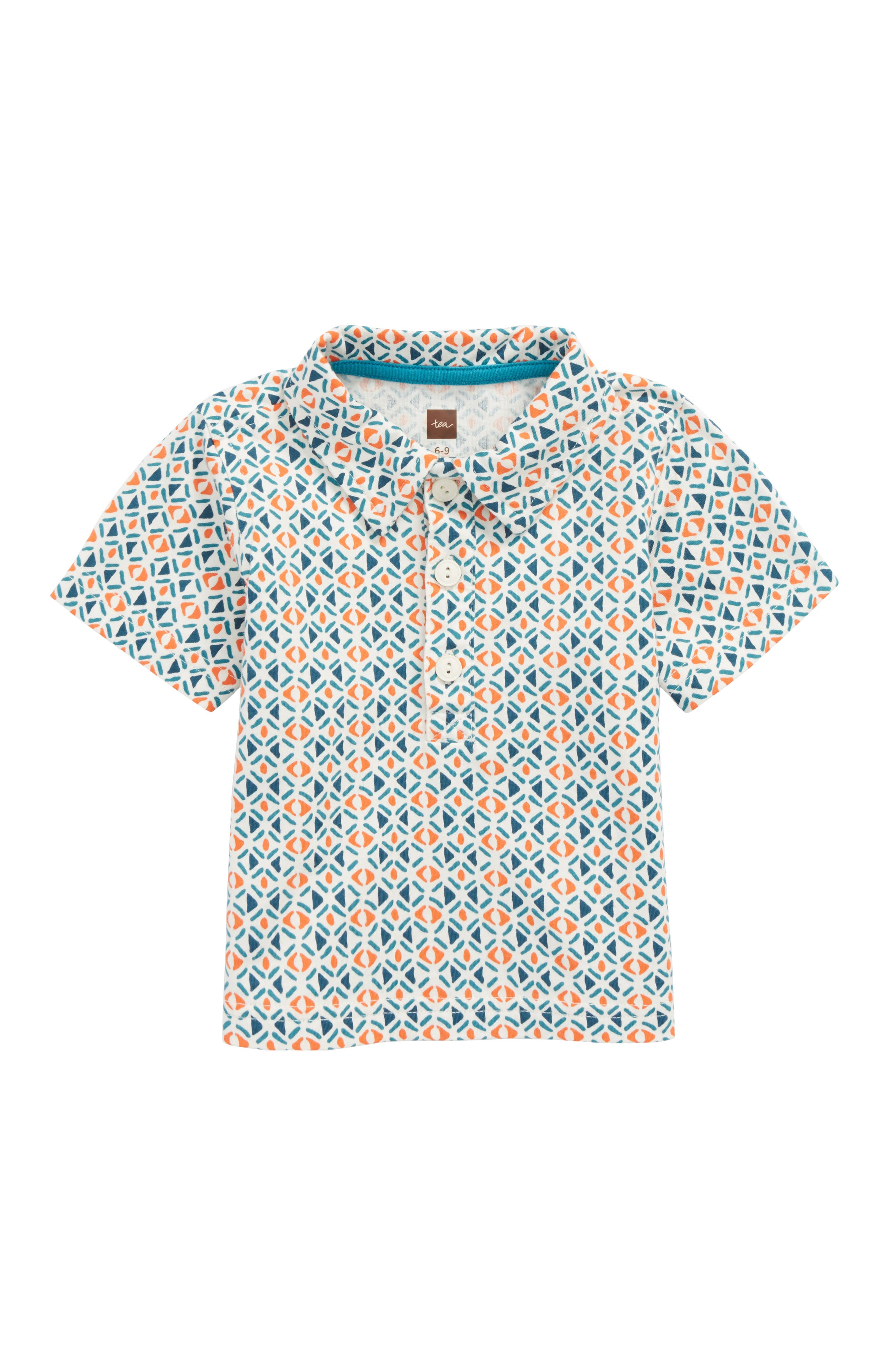 Alternate Image 1 Selected - Tea Collection Geometric Print Polo (Baby Boys)