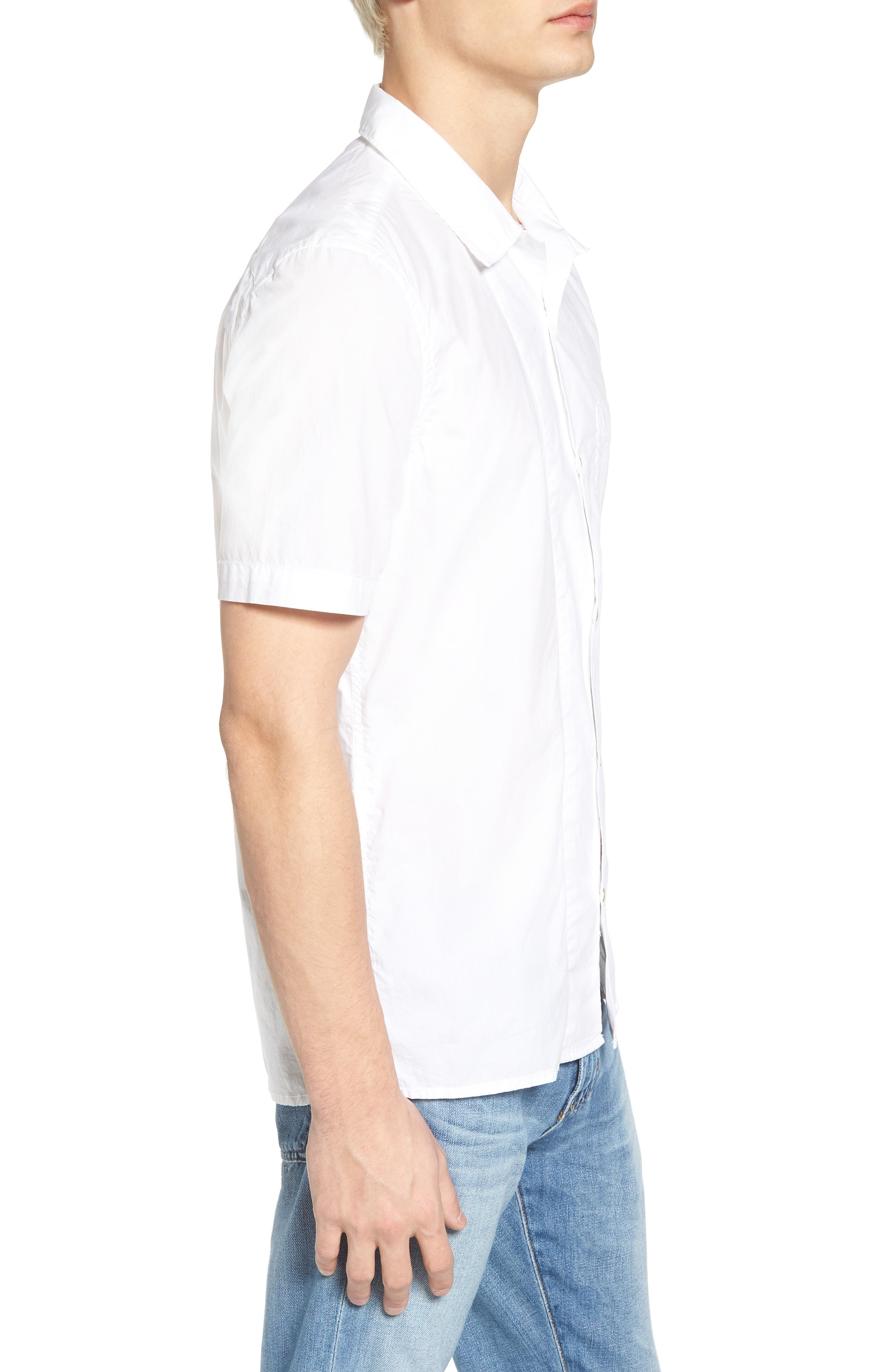 Alternate Image 4  - French Connection Slim Fit Solid Sport Shirt