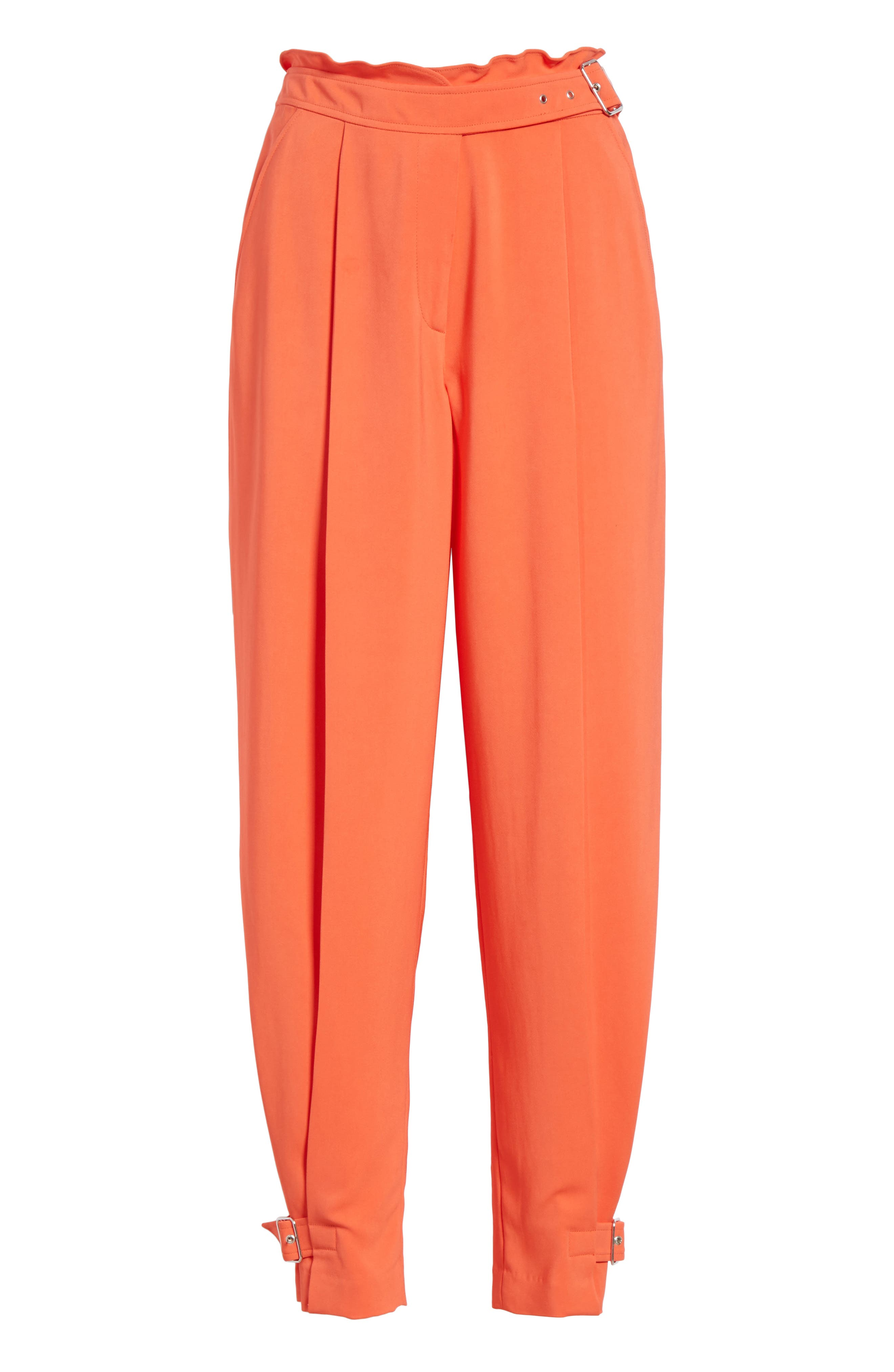 Belted Trousers,                             Alternate thumbnail 6, color,                             Blood Orange