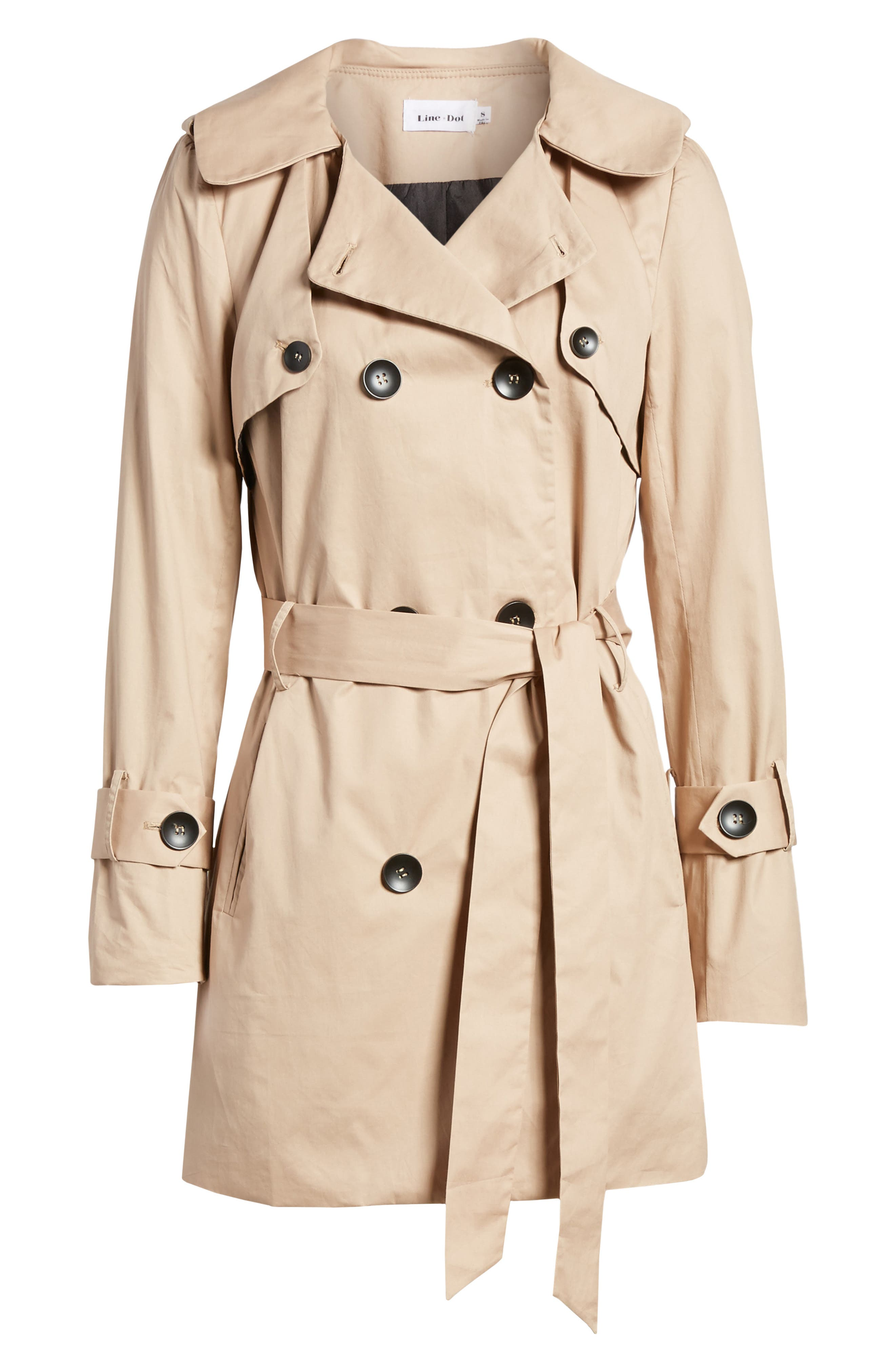 Moss Trench Coat,                             Alternate thumbnail 7, color,                             Sand