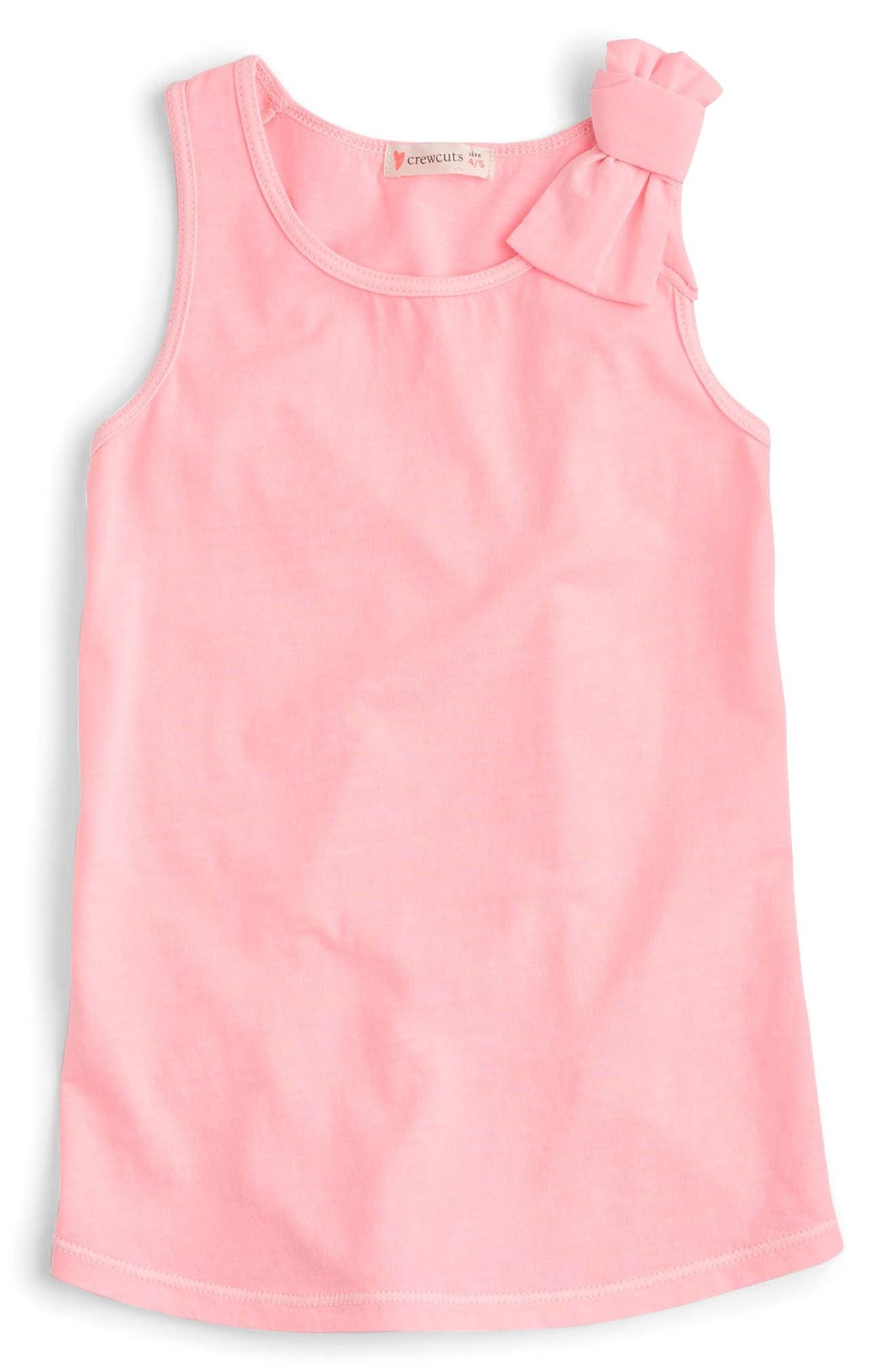 Bow Tank Top,                             Main thumbnail 1, color,                             Brilliant Peony