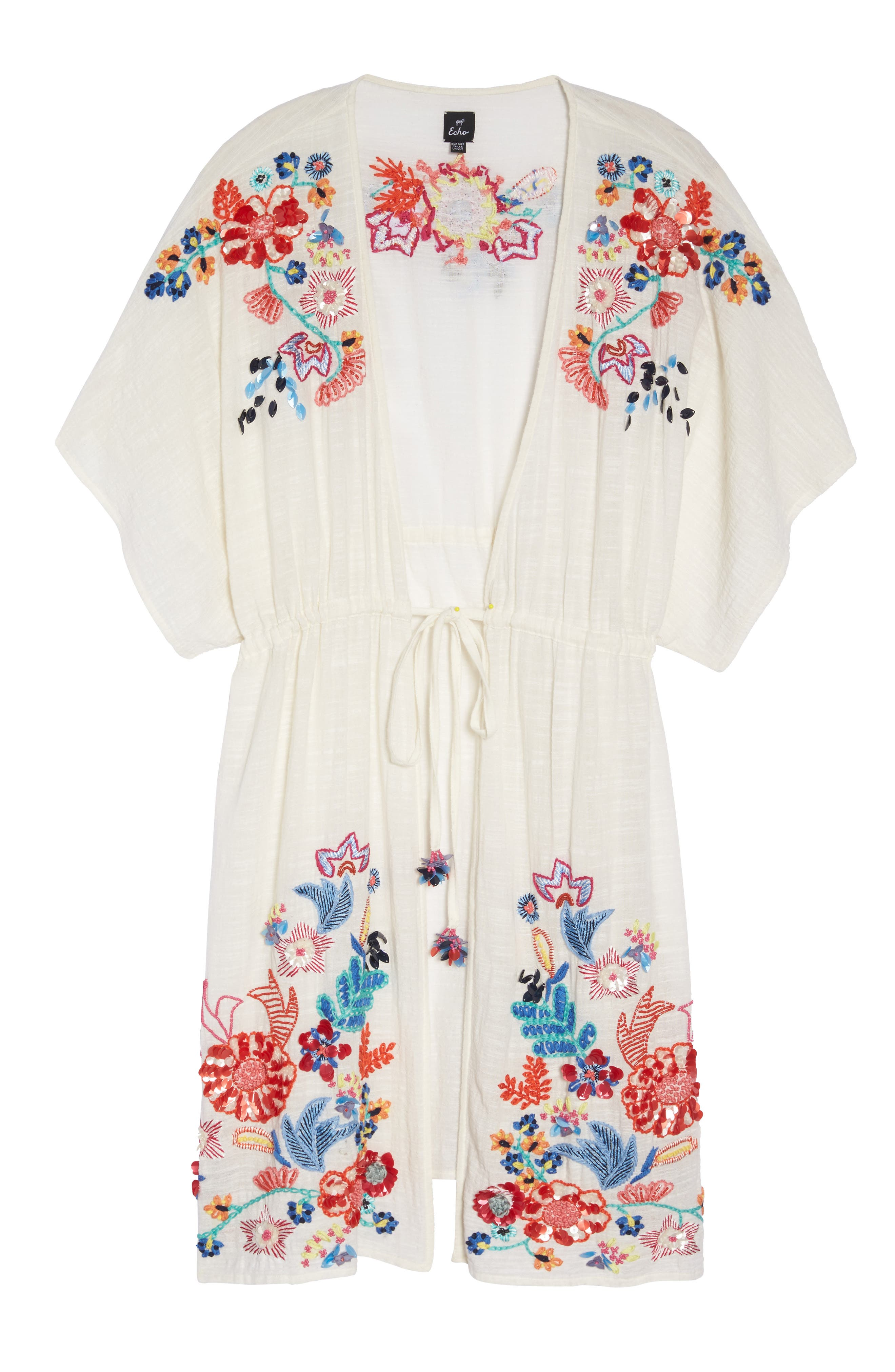 Wildflower Cover-Up Tunic,                             Alternate thumbnail 6, color,                             White