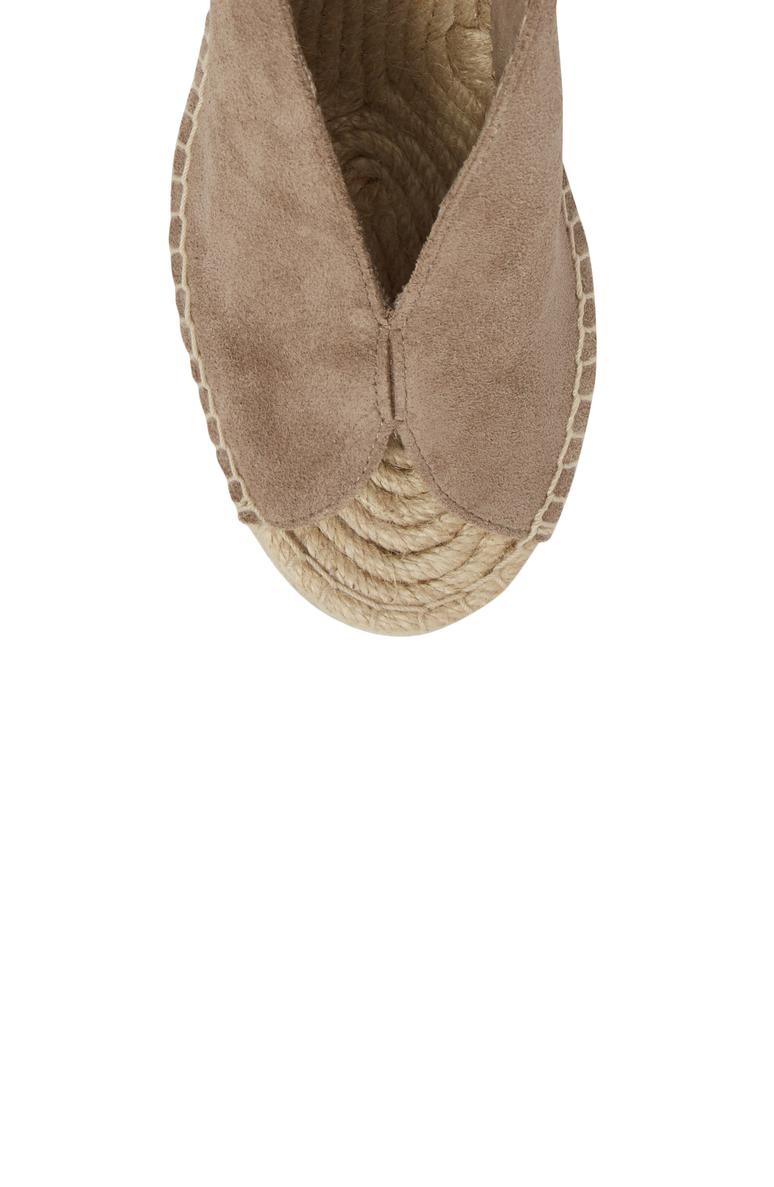 Interrelated Espadrille Wedge Sandal,                             Alternate thumbnail 4, color,                             Taupe Suede