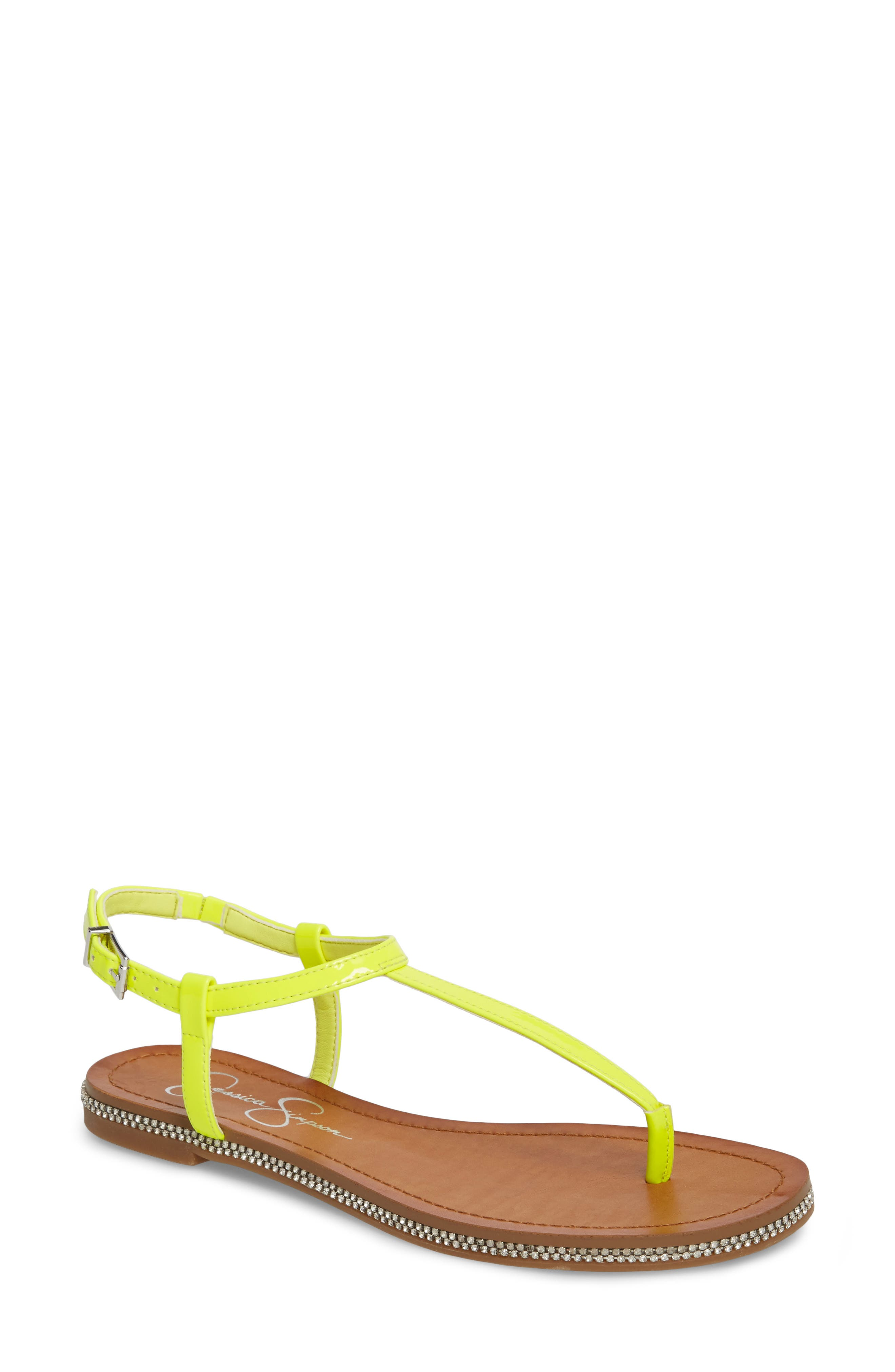 Brimah Sandal,                             Main thumbnail 1, color,                             Yellow Shock