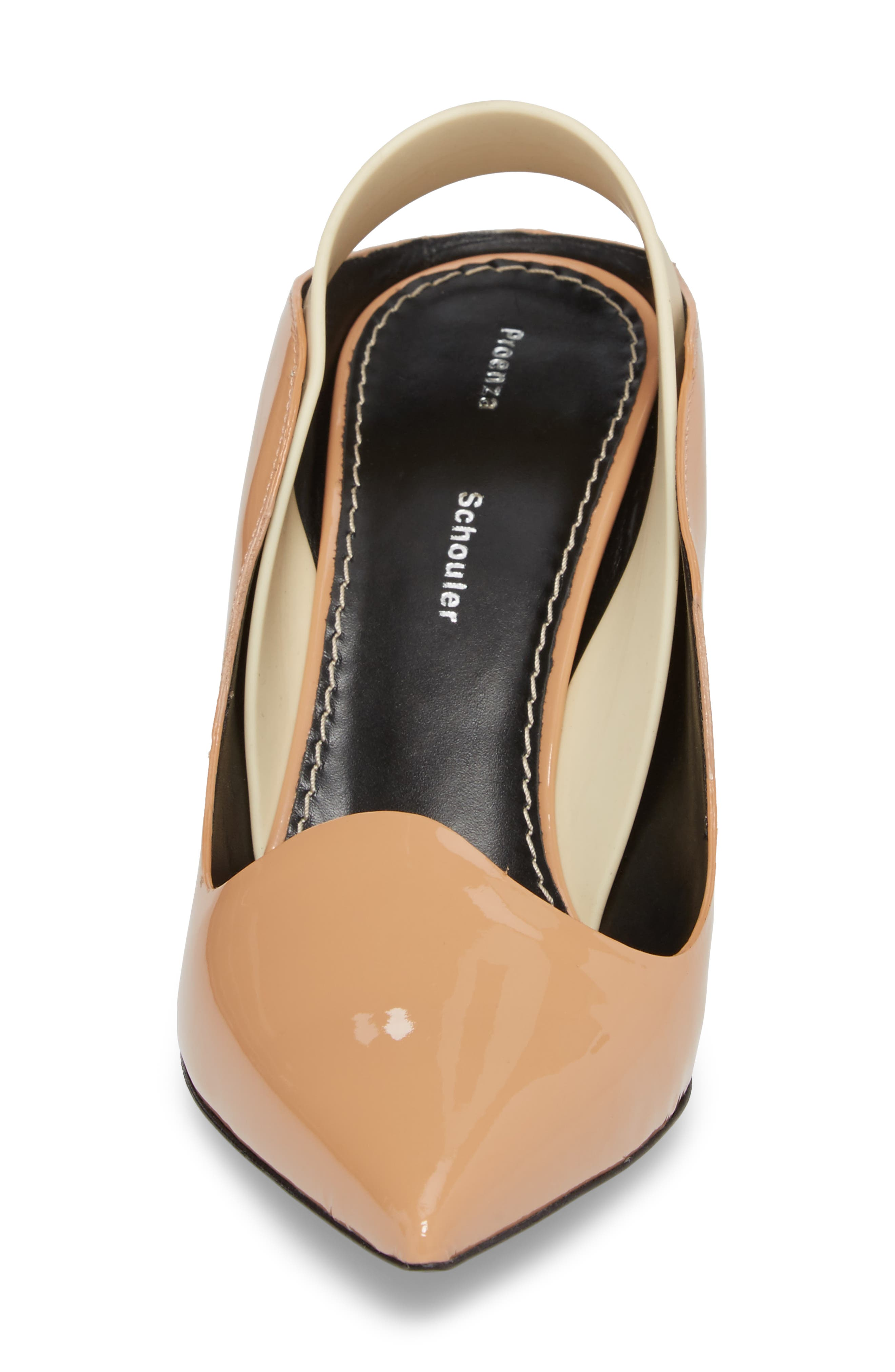 Wave Slingback Pump,                             Alternate thumbnail 4, color,                             Nude