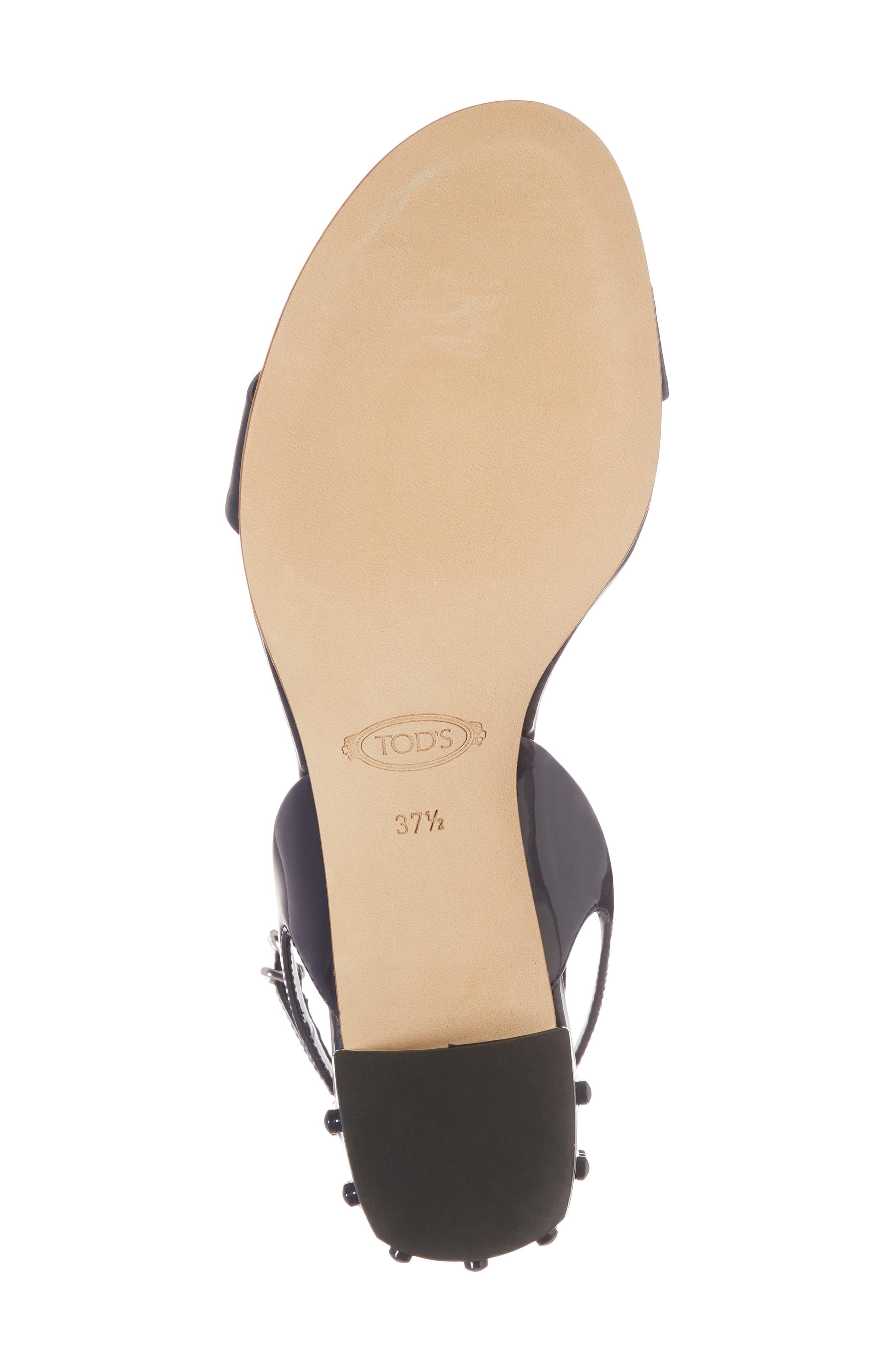 Gommini Block Heel Sandal,                             Alternate thumbnail 6, color,                             Navy