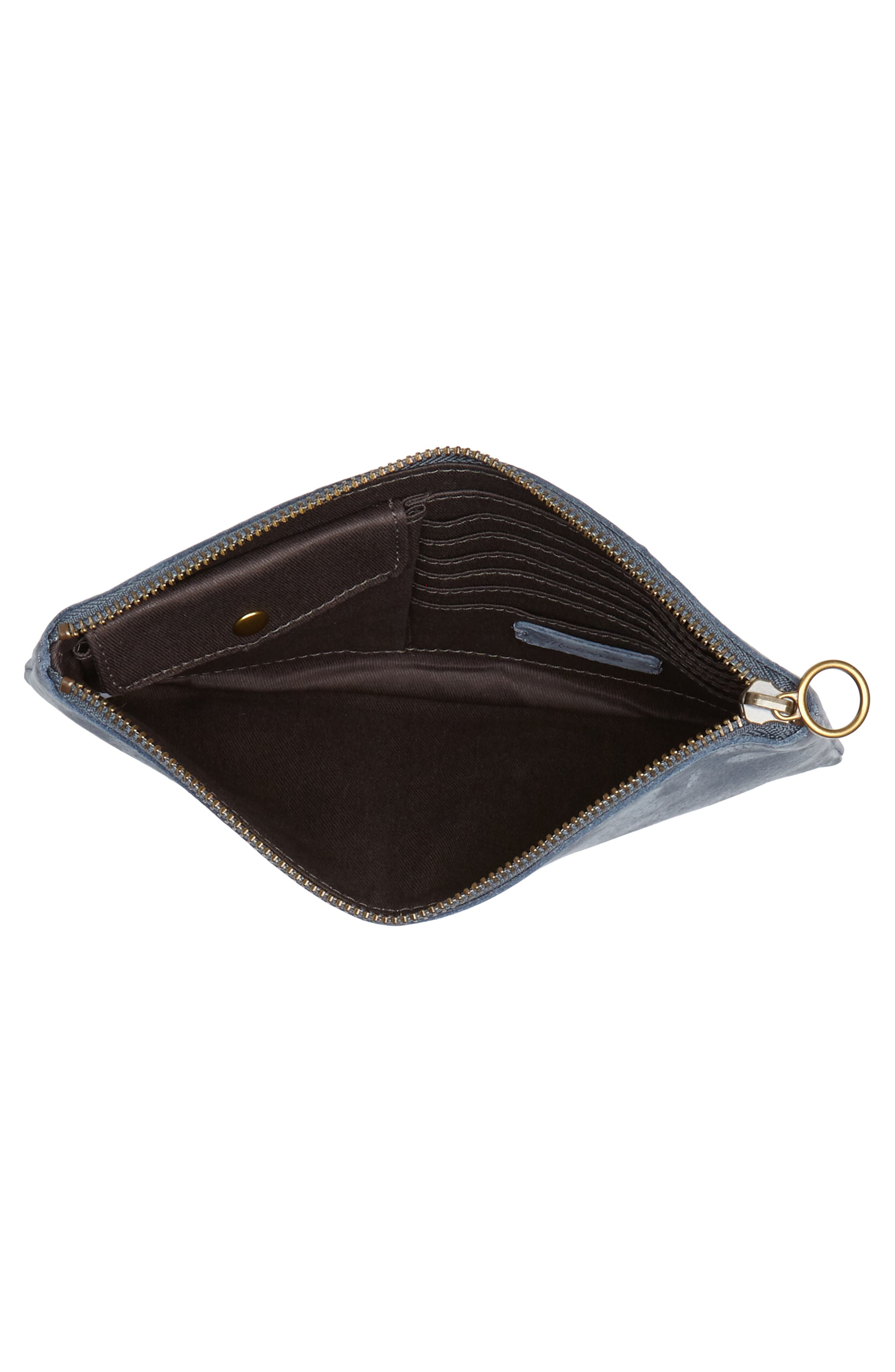 The Leather Pouch Clutch,                             Alternate thumbnail 4, color,                             Deep River