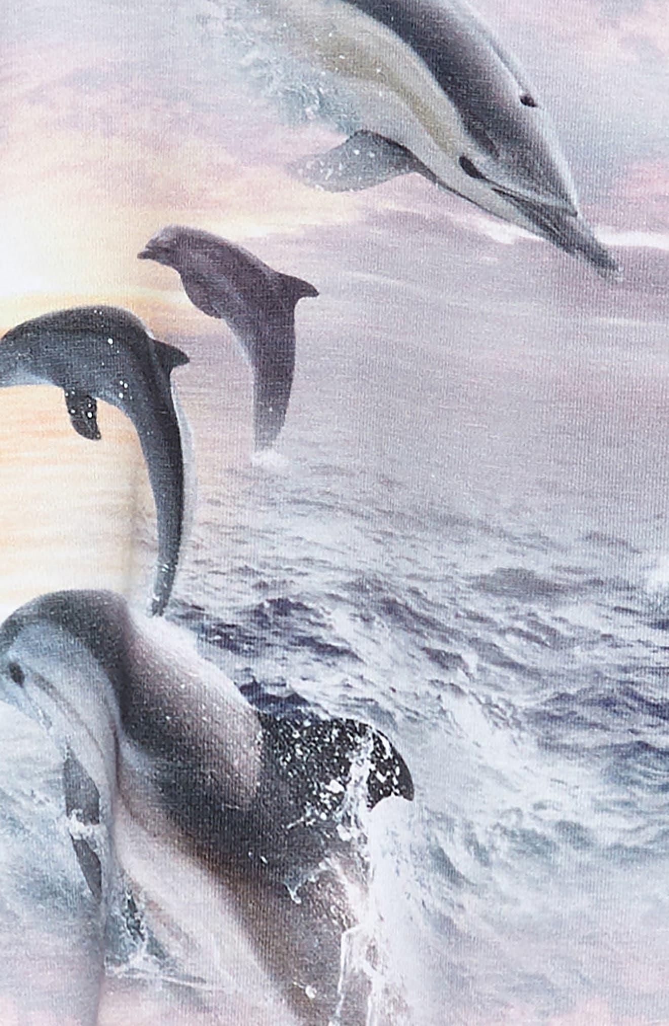 Camilla Dolphin Dress,                             Alternate thumbnail 3, color,                             Dolphin Sunset