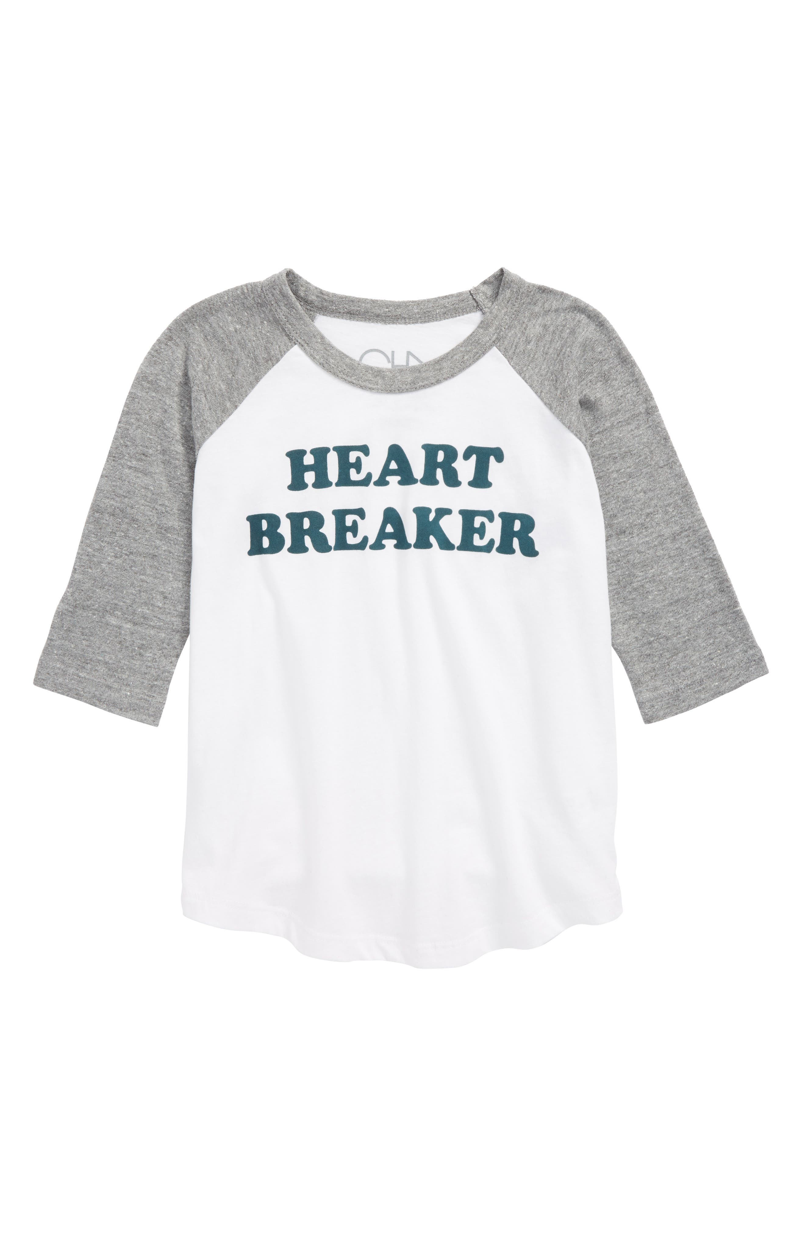 Chaser Heart Breaker Raglan T-Shirt (Toddler Boys, Little Boys & Big Boys)