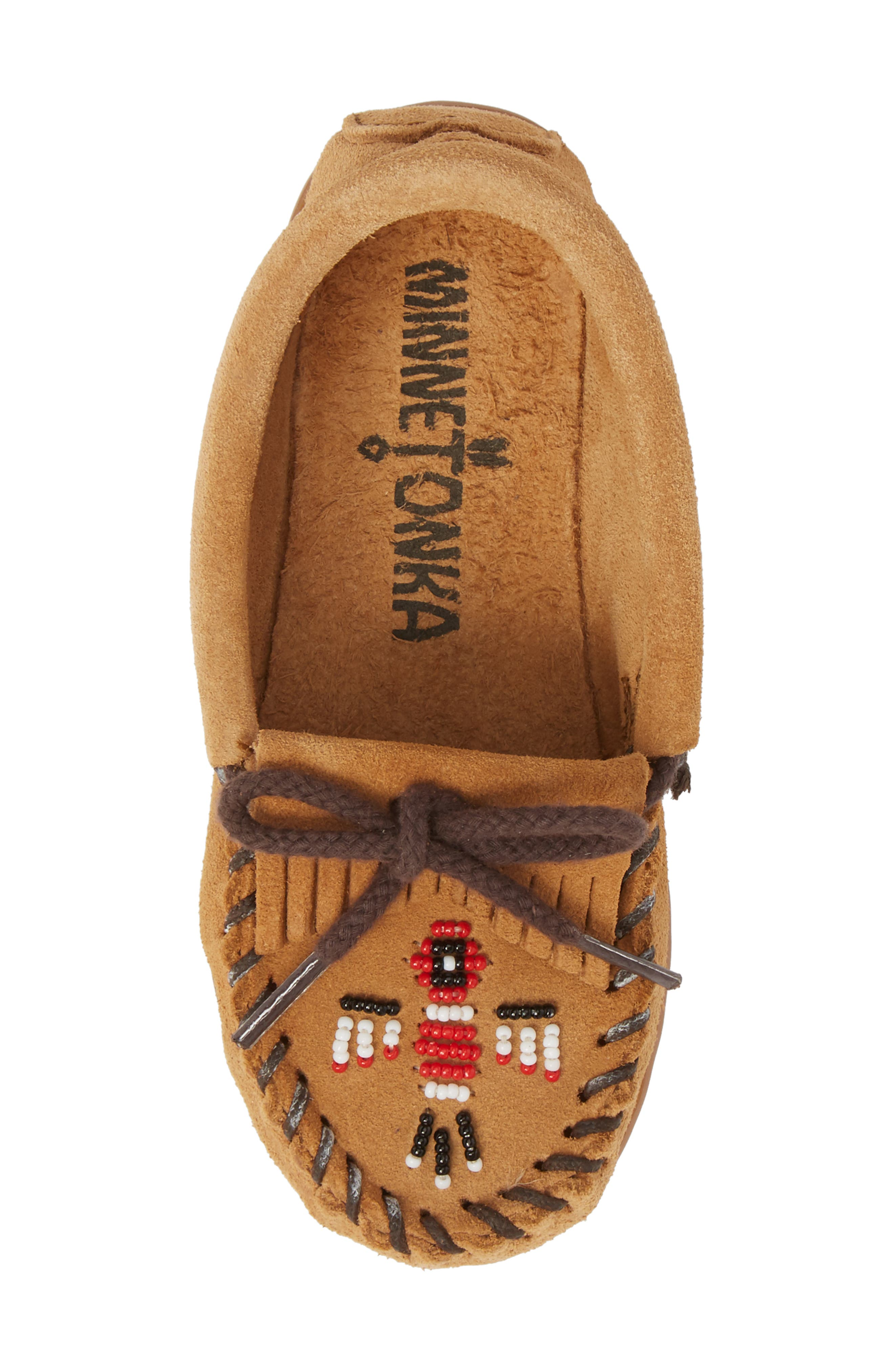 'Thunderbird' Moccasin,                             Alternate thumbnail 4, color,                             Taupe