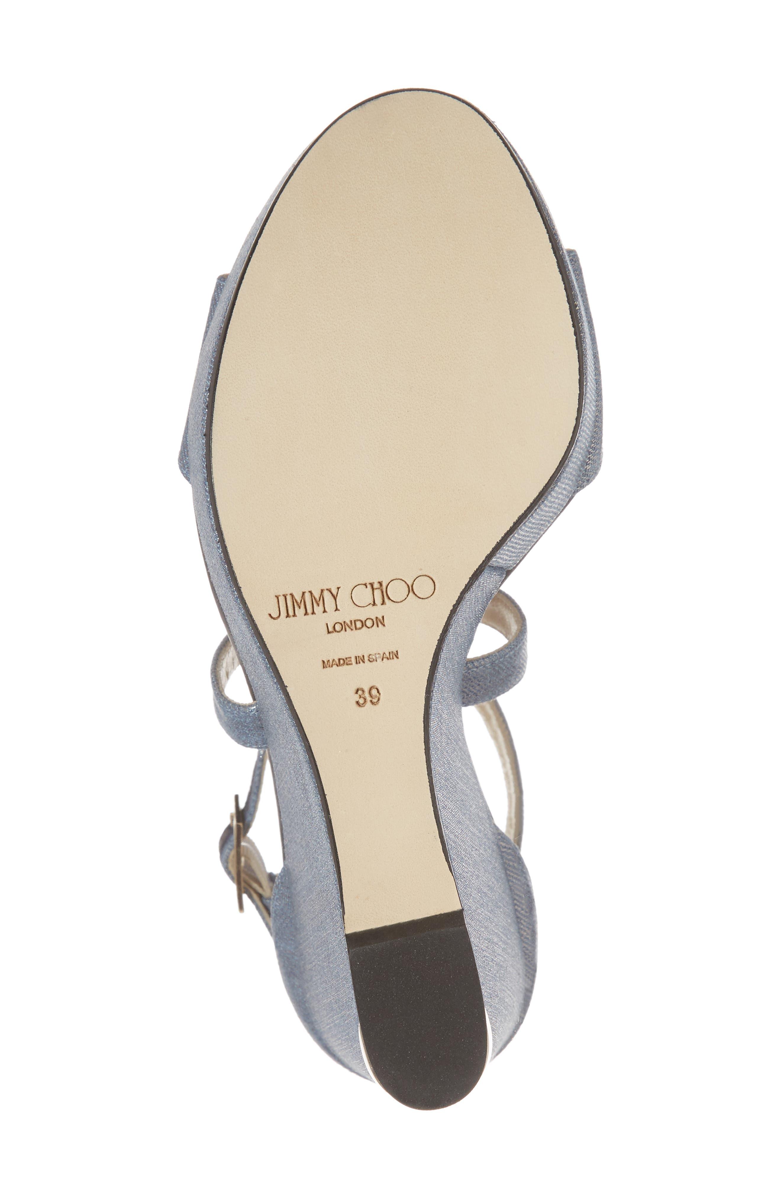 Portia Platform Wedge Sandal,                             Alternate thumbnail 6, color,                             Dusk Blue