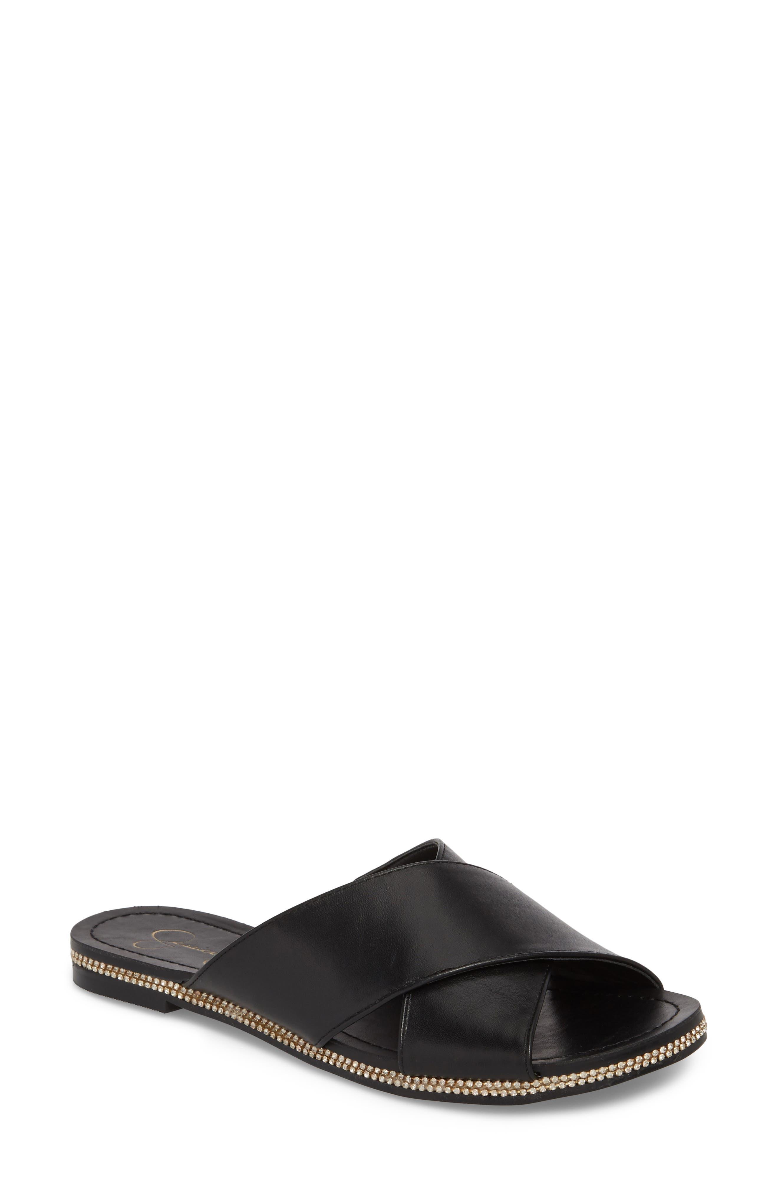 Brinella Sandal,                             Main thumbnail 1, color,                             Black