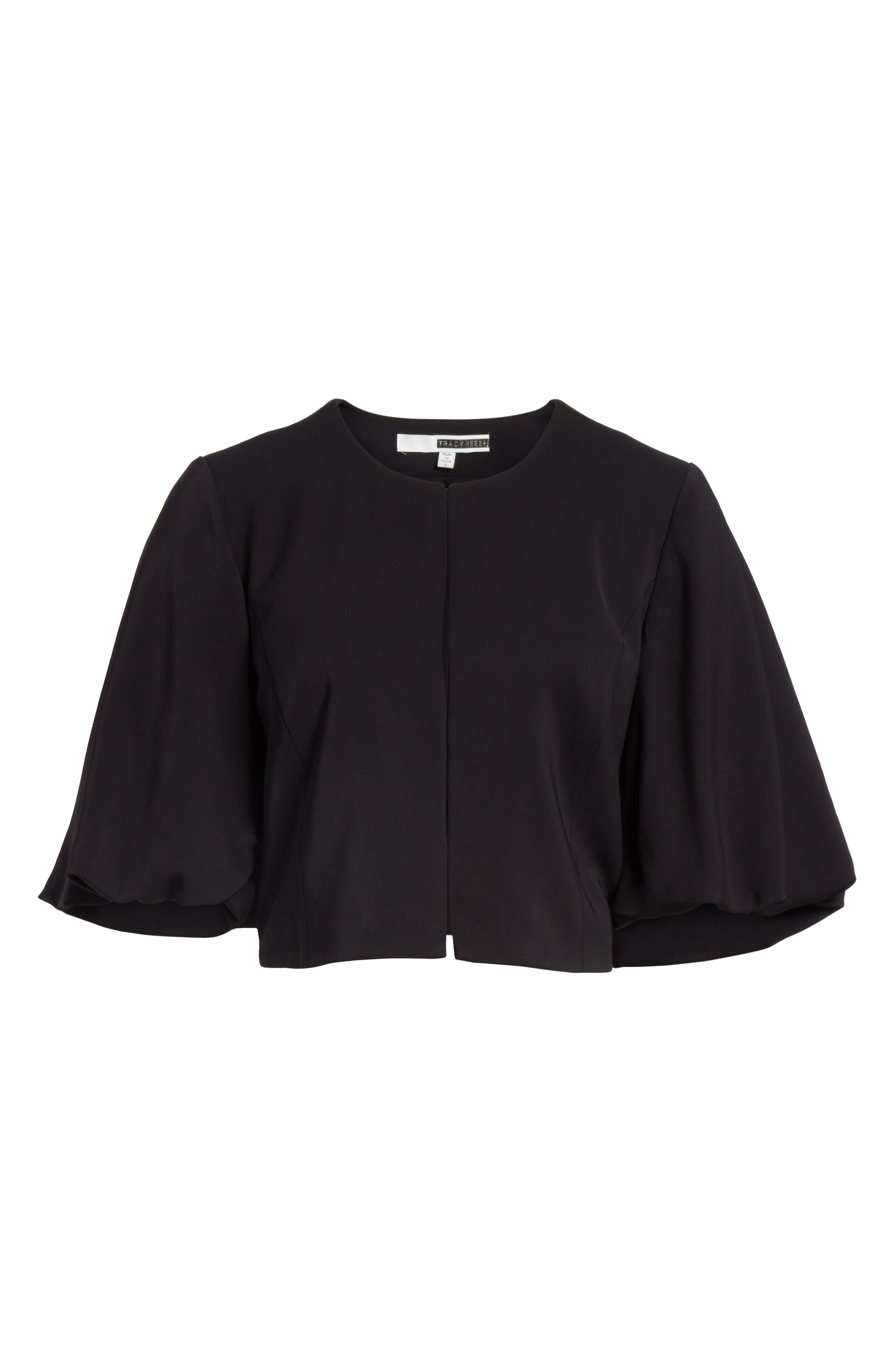 Bolero Jacket,                             Alternate thumbnail 6, color,                             Black