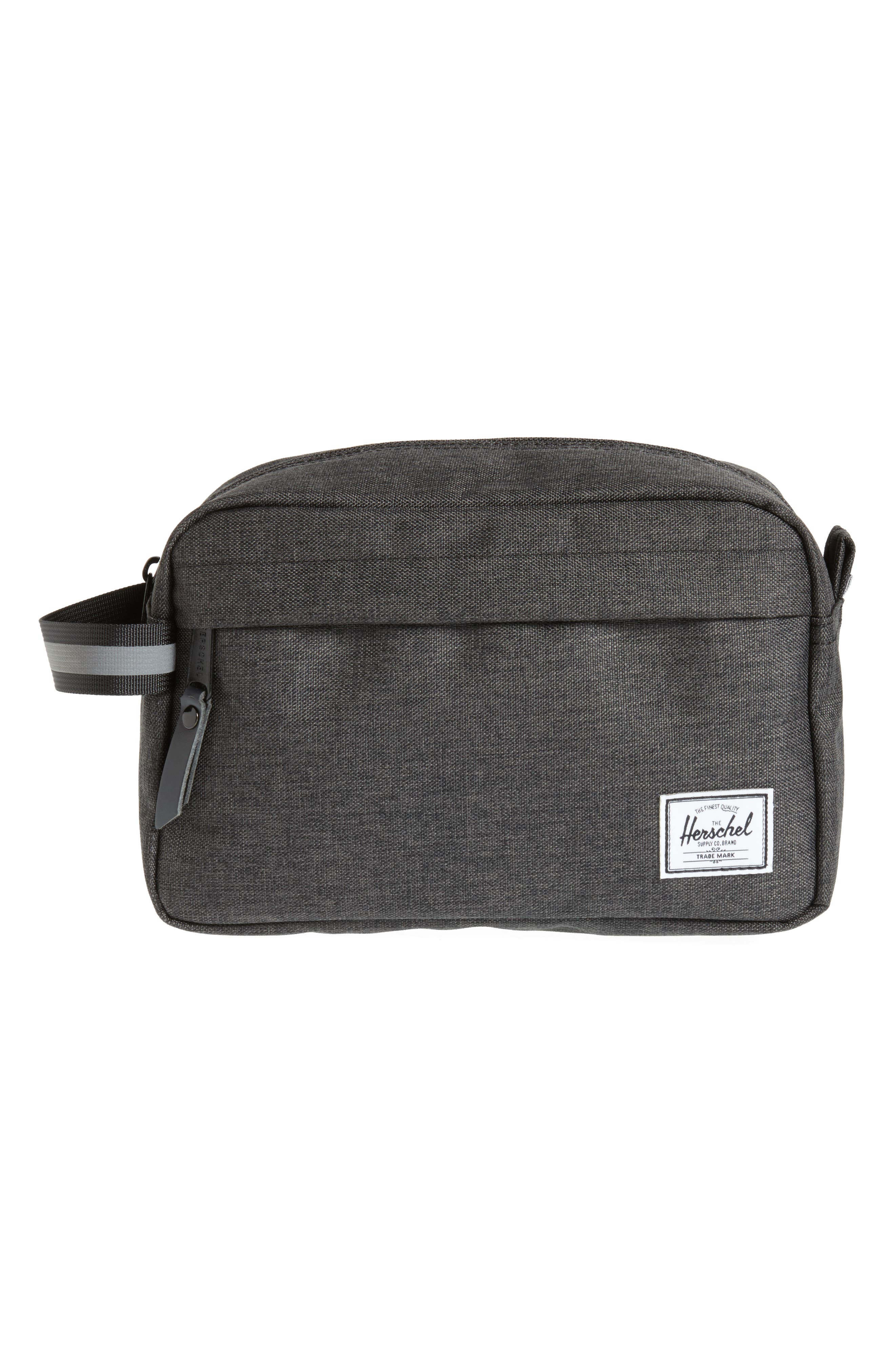Chapter - Reflective Dopp Kit,                             Main thumbnail 1, color,                             Black Crosshatch/ Reflective