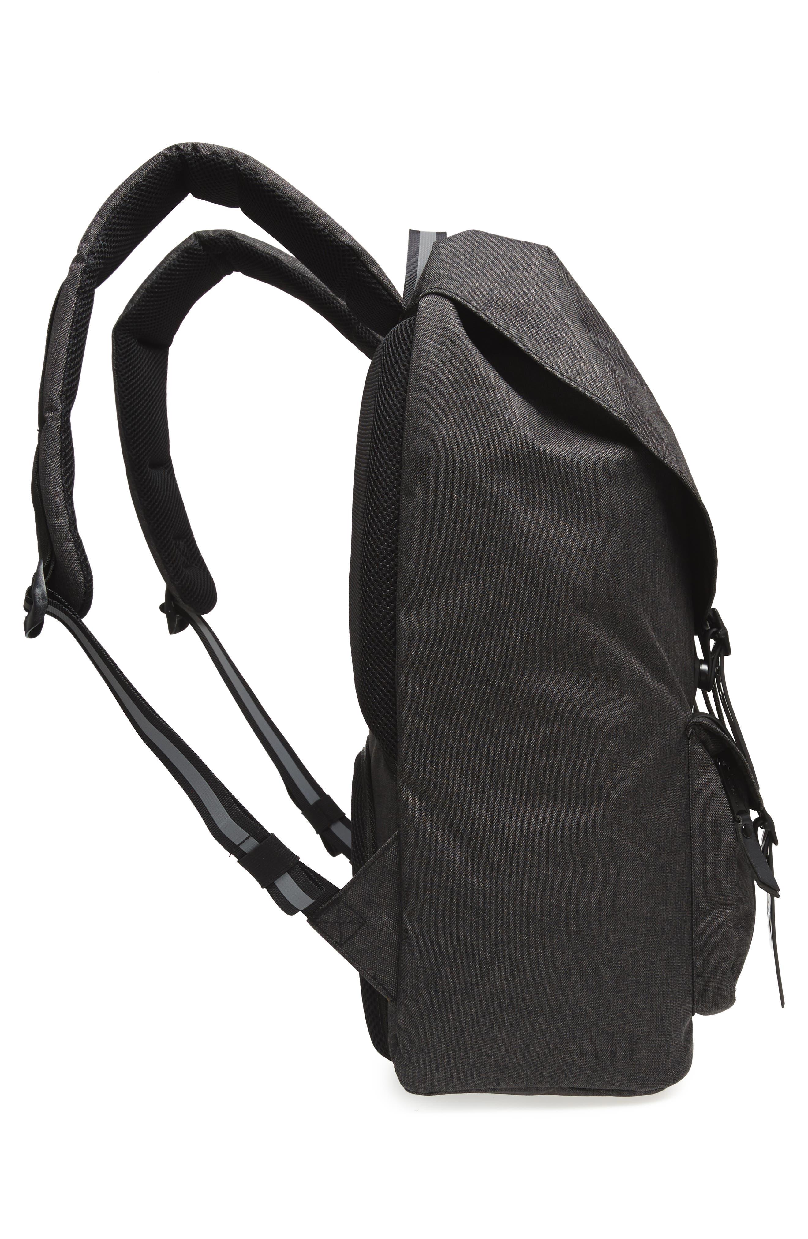 Little America - Reflective Backpack,                             Alternate thumbnail 5, color,                             Black Crosshatch/ Reflective