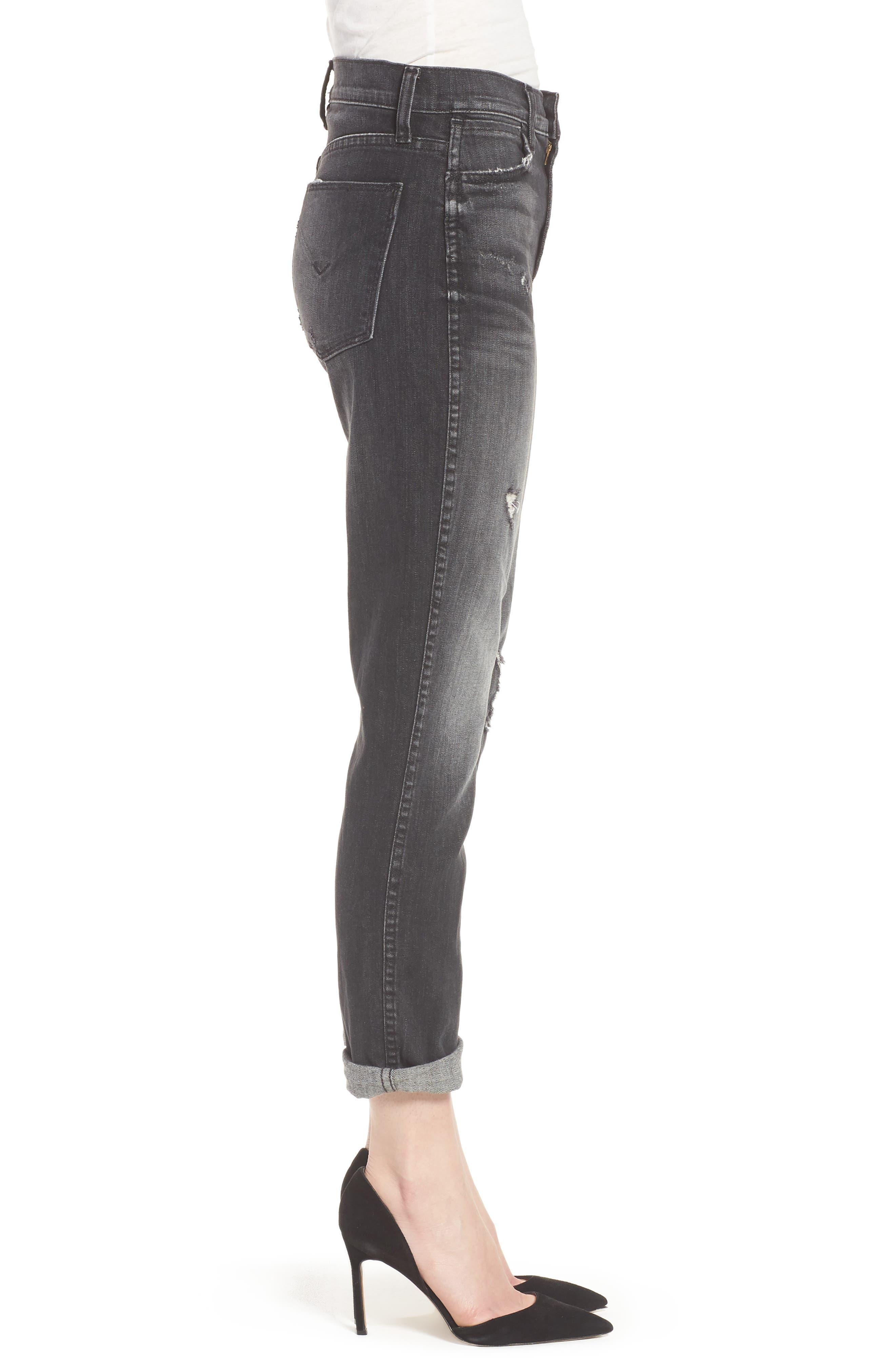 Vintage Holly High Waist Crop Skinny Jeans,                             Alternate thumbnail 3, color,                             Jawbreaker