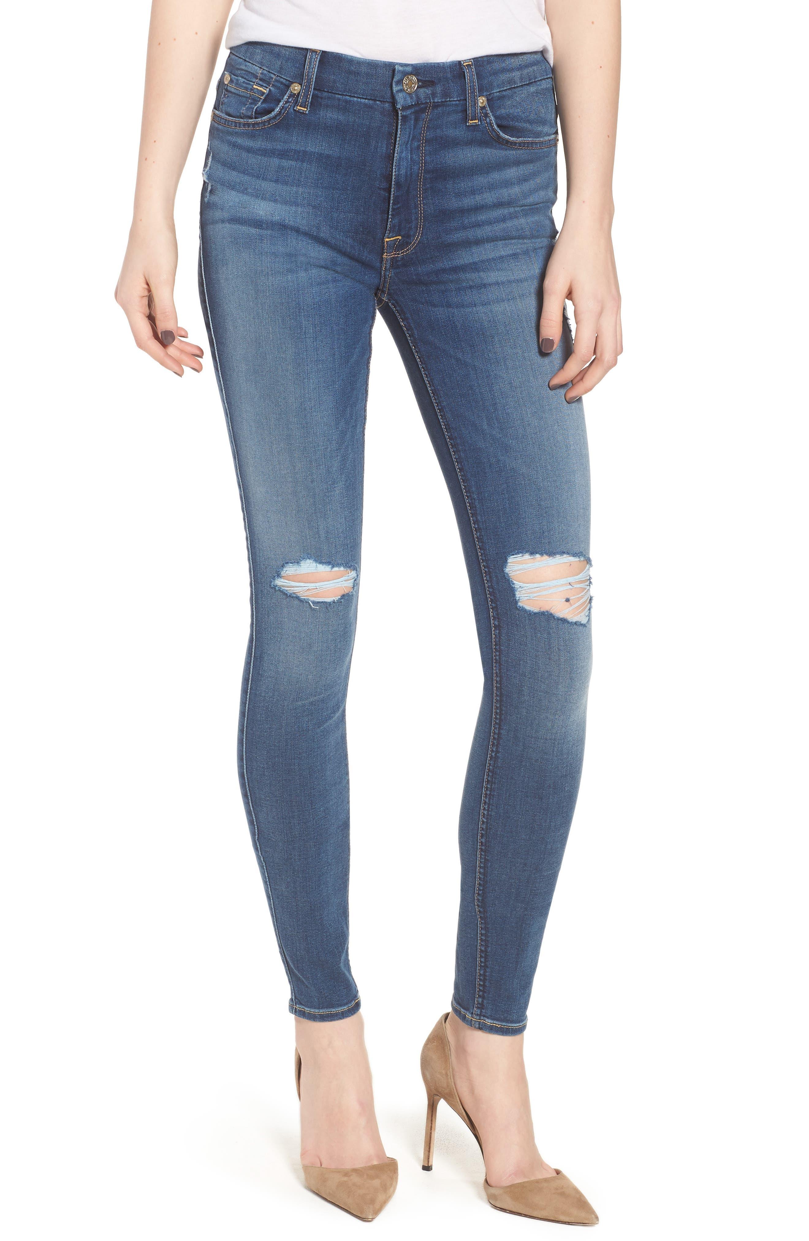'b(air) - The Ankle' Skinny Jeans,                             Main thumbnail 1, color,                             Bair Vintage Dusk 2