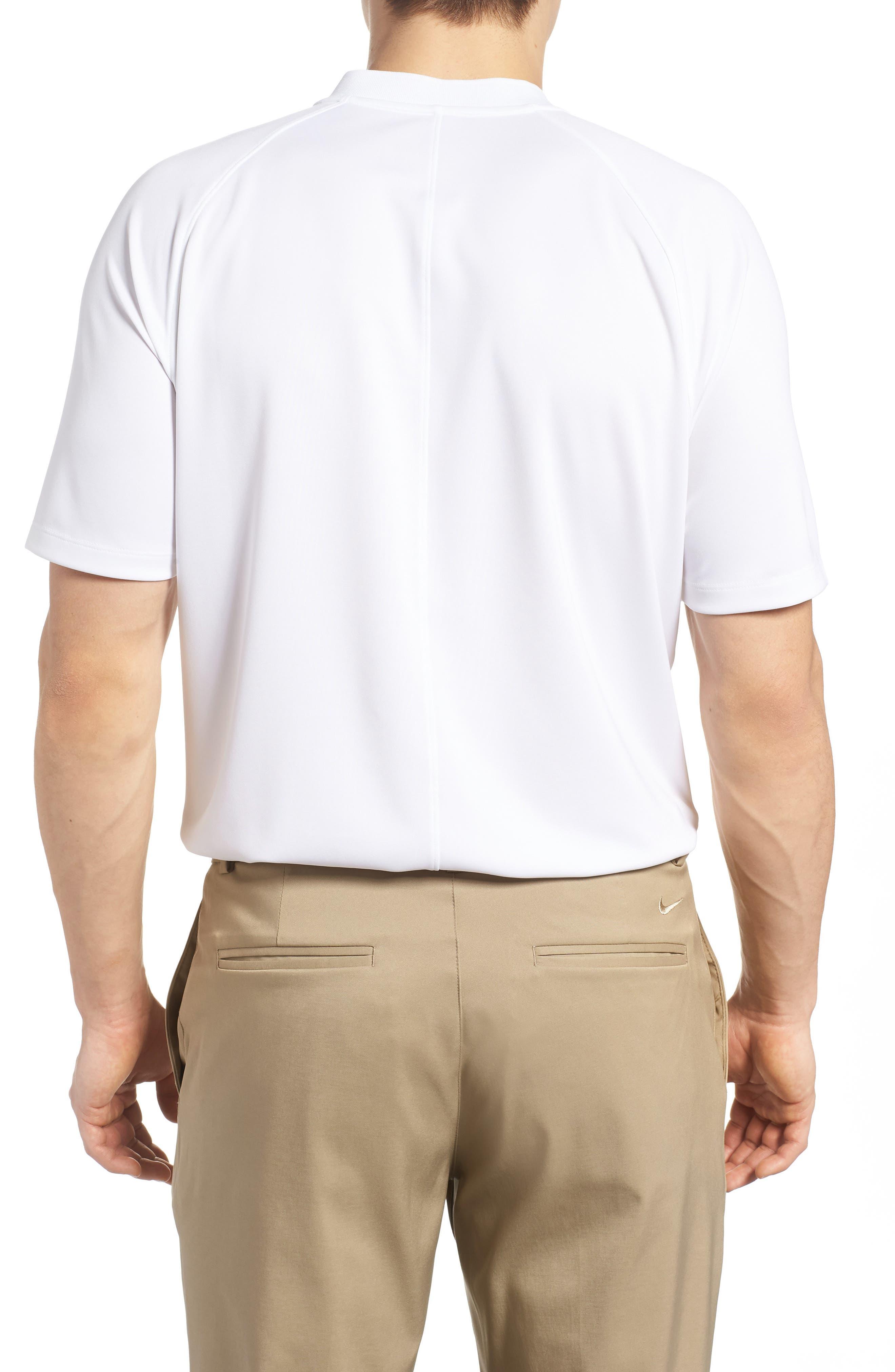 Dry Momentum Golf Polo,                             Alternate thumbnail 2, color,                             White/ White/ Black