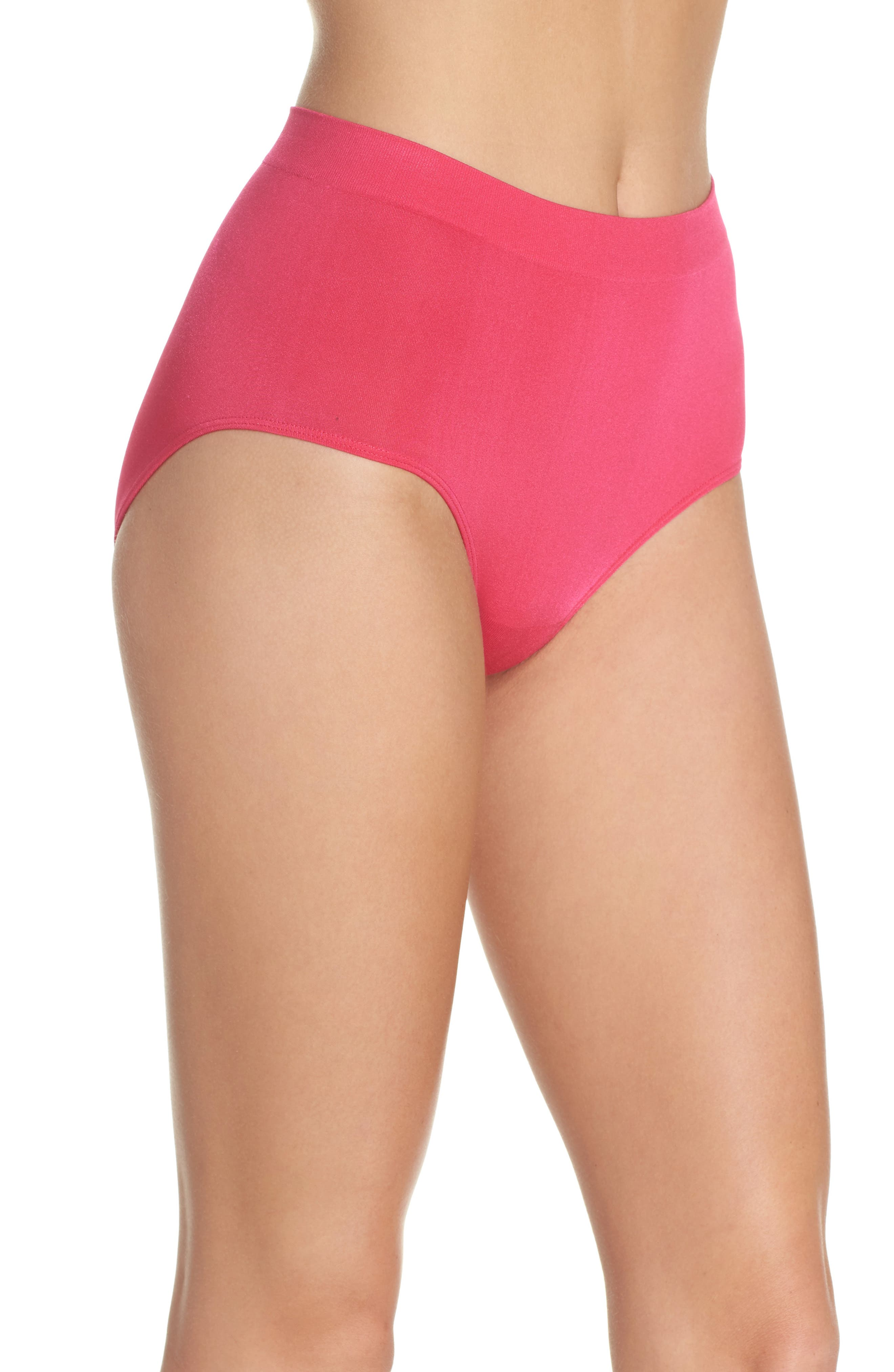 B Smooth Briefs,                             Alternate thumbnail 5, color,                             Pink Peacock