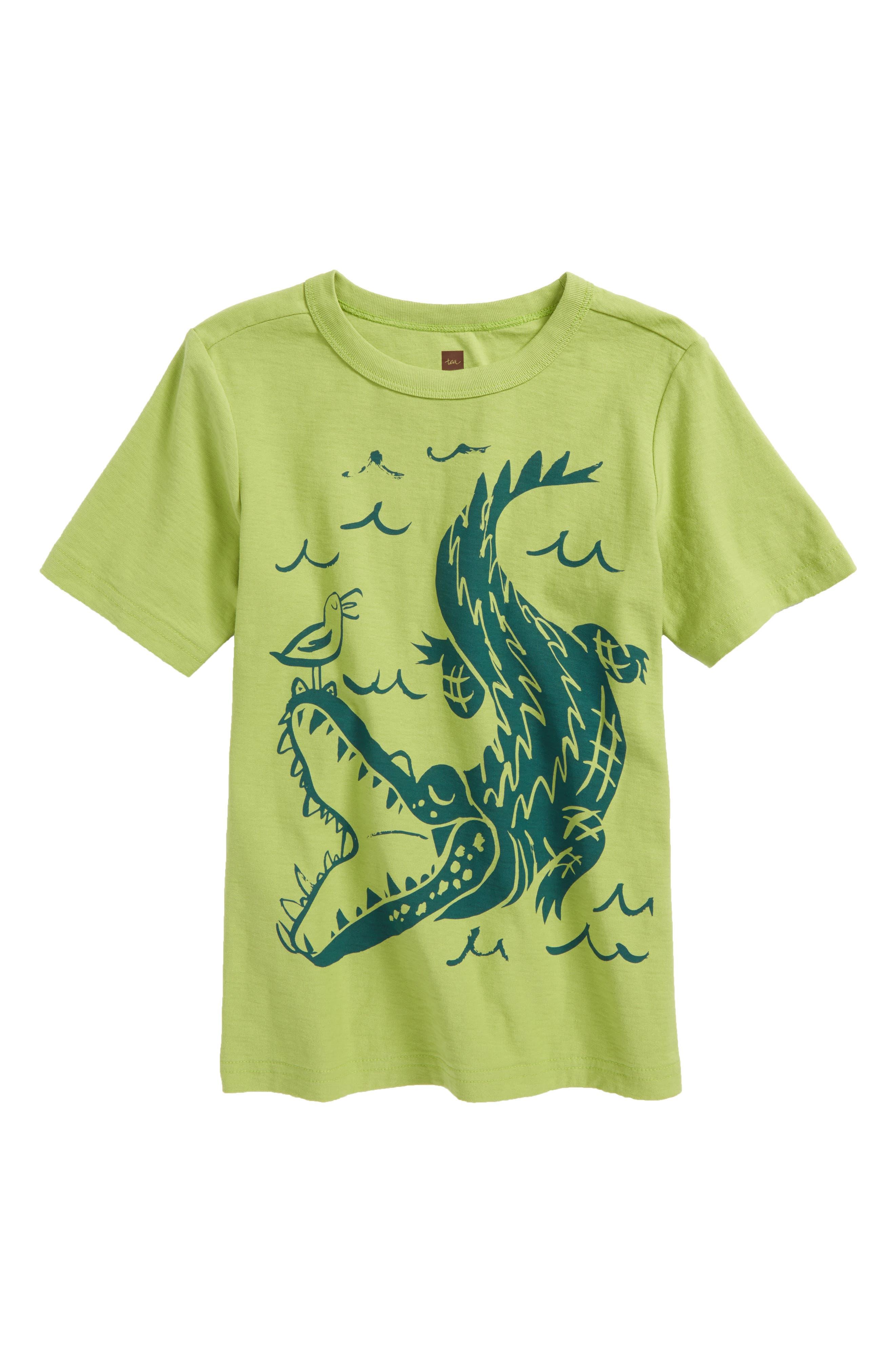 Alligator T-Shirt,                         Main,                         color, Peridot
