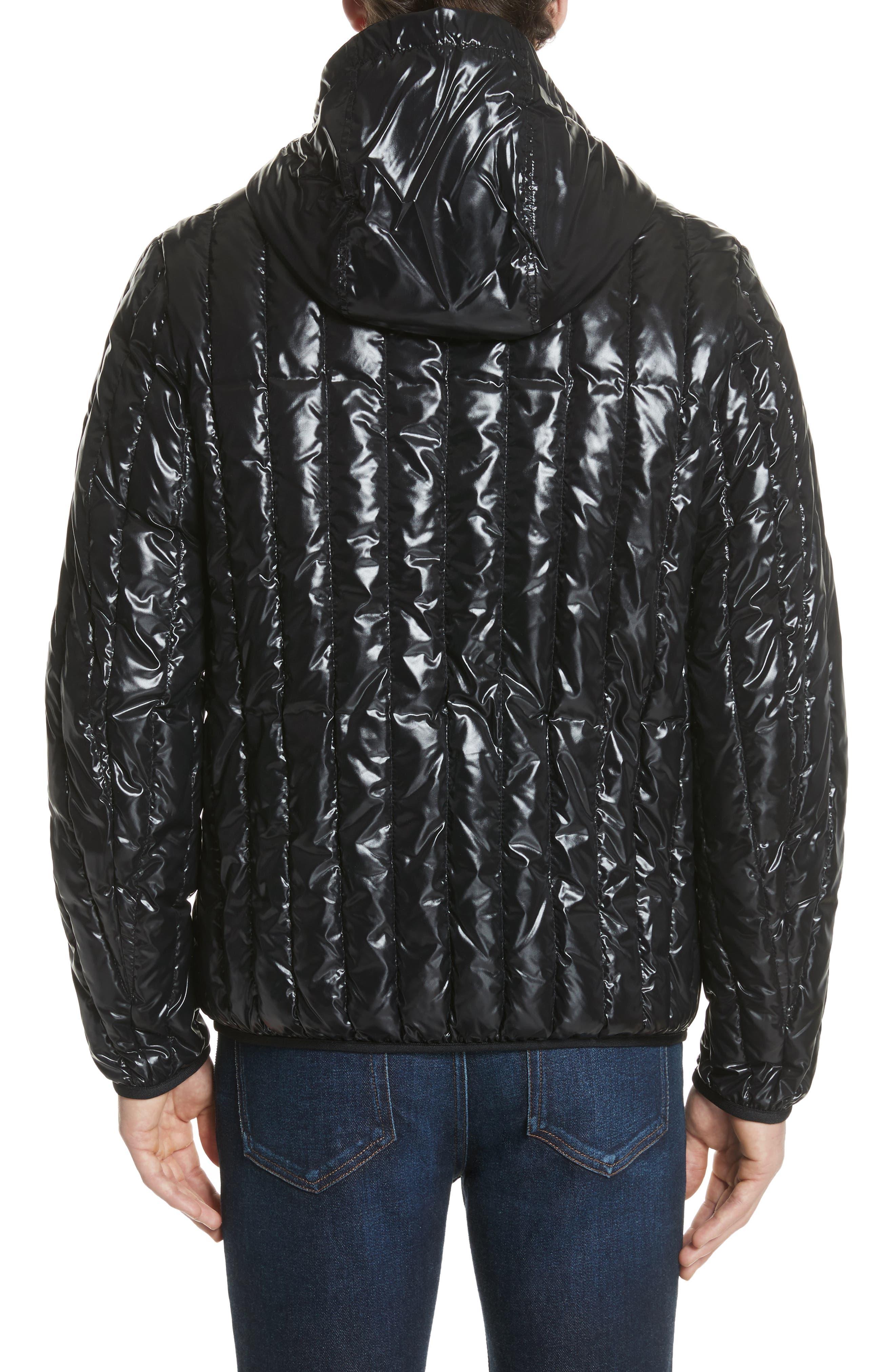 Diren Down Hooded Jacket,                             Alternate thumbnail 2, color,                             Black