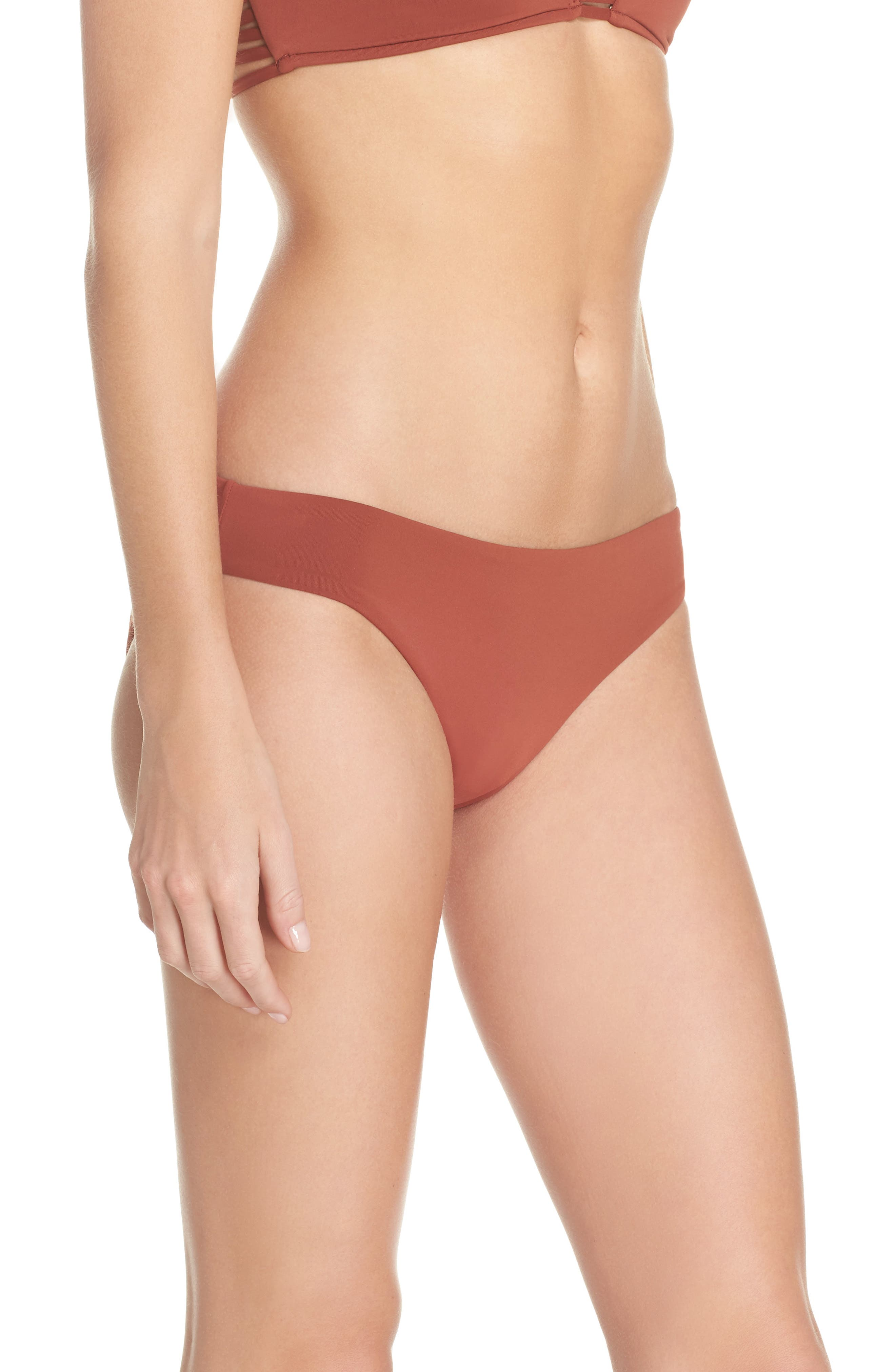 Active Bikini Bottoms,                             Alternate thumbnail 3, color,                             Burnt Amber