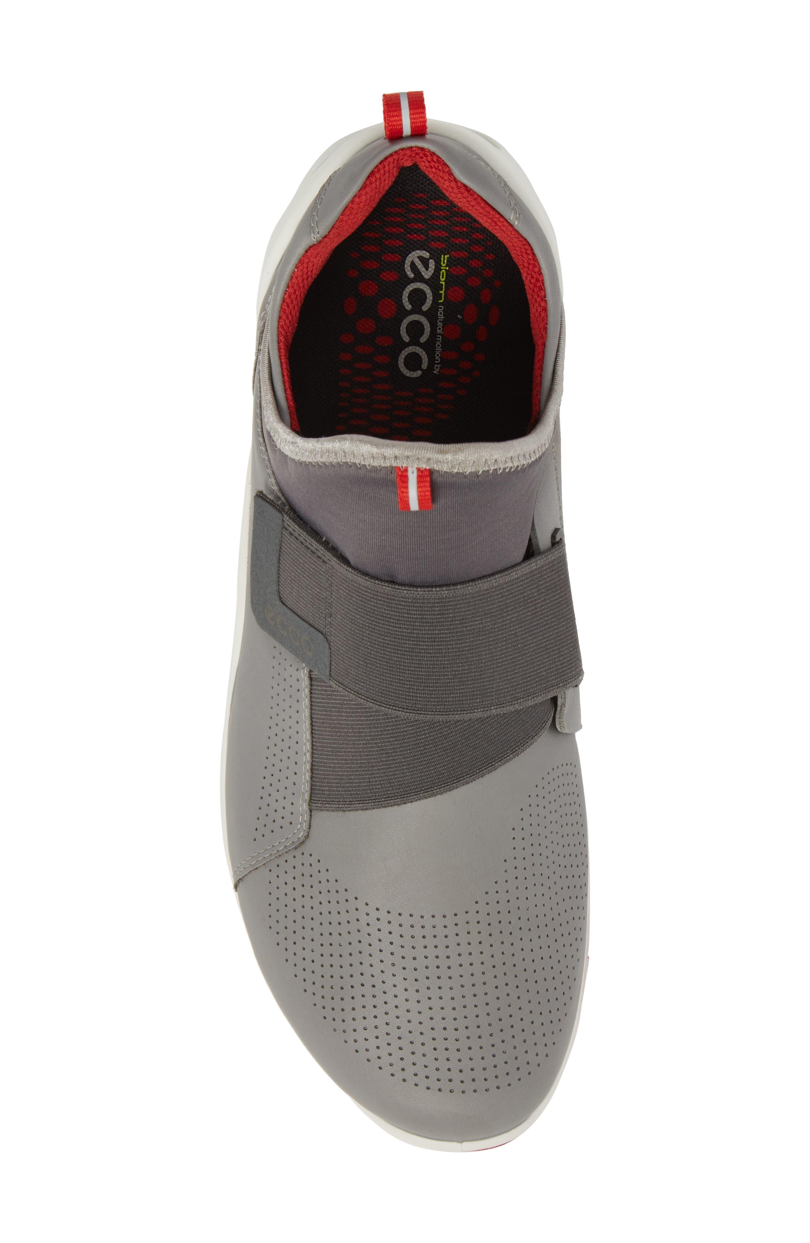 BIOM Fjuel Band Sneaker,                             Alternate thumbnail 5, color,                             Dark Shadow/ Titanium Leather
