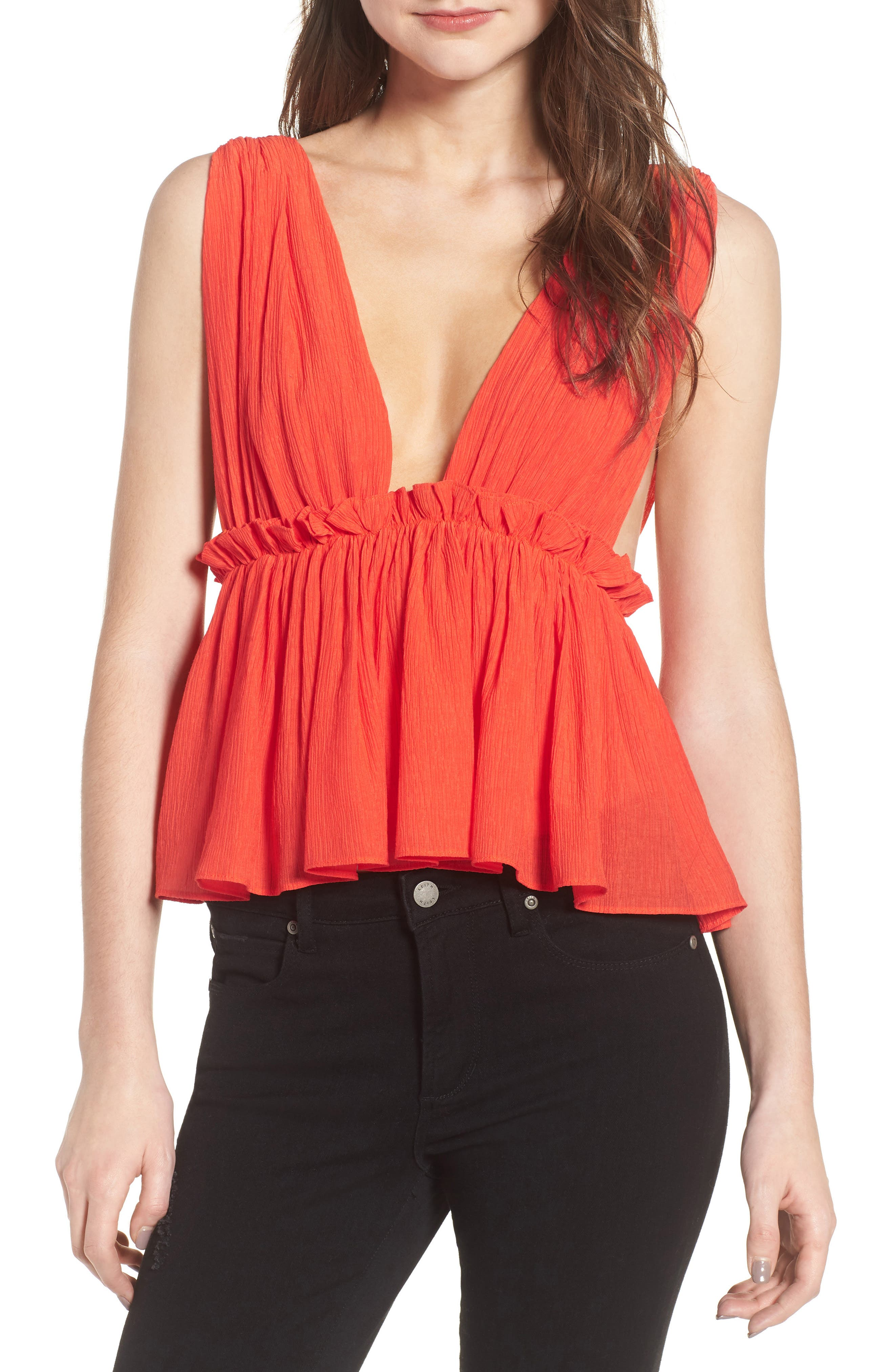 Line & Dot Phi Phi Plunge Top