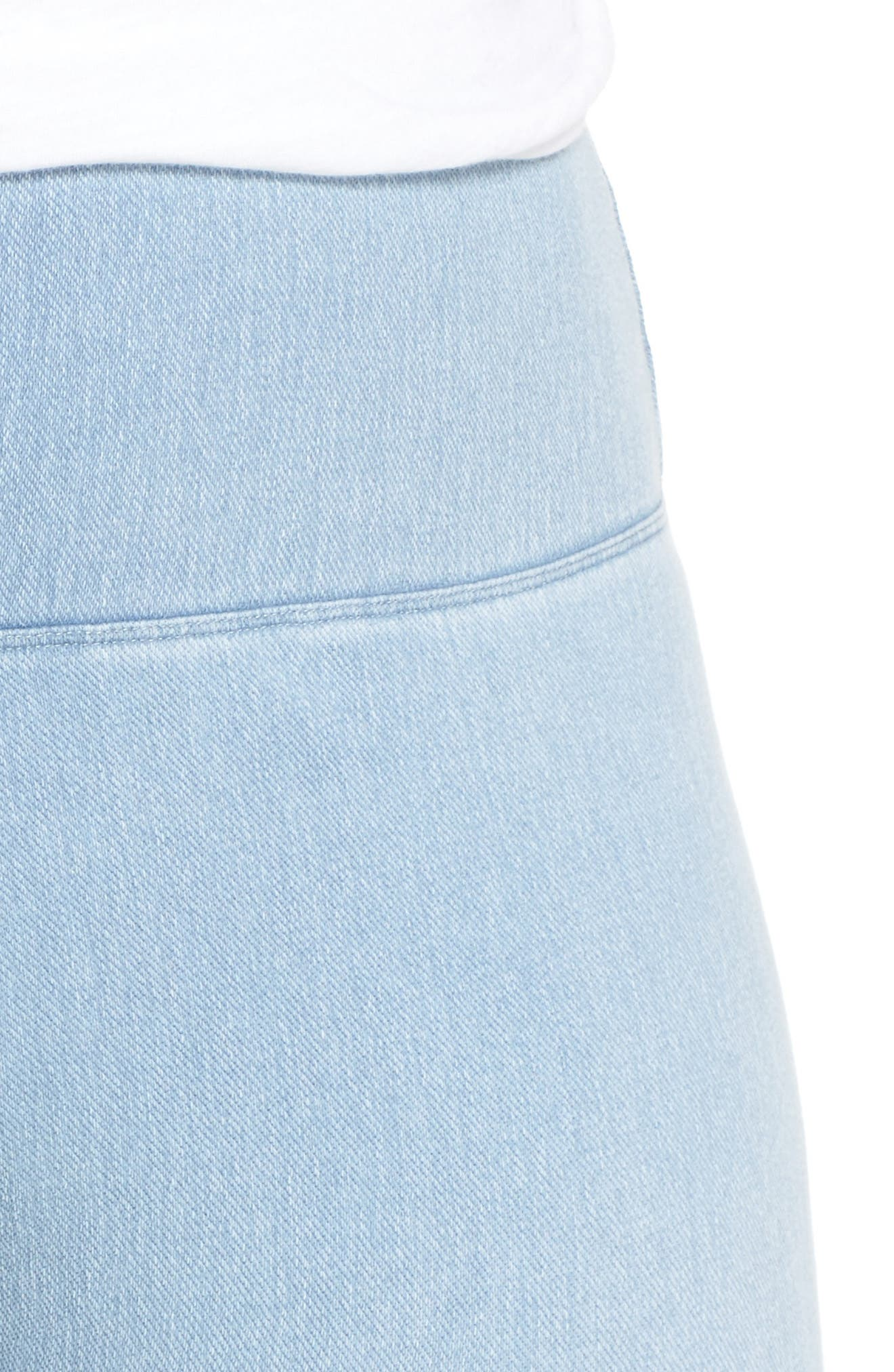 Stretch Denim Leggings,                             Alternate thumbnail 4, color,                             Cashmere Blue