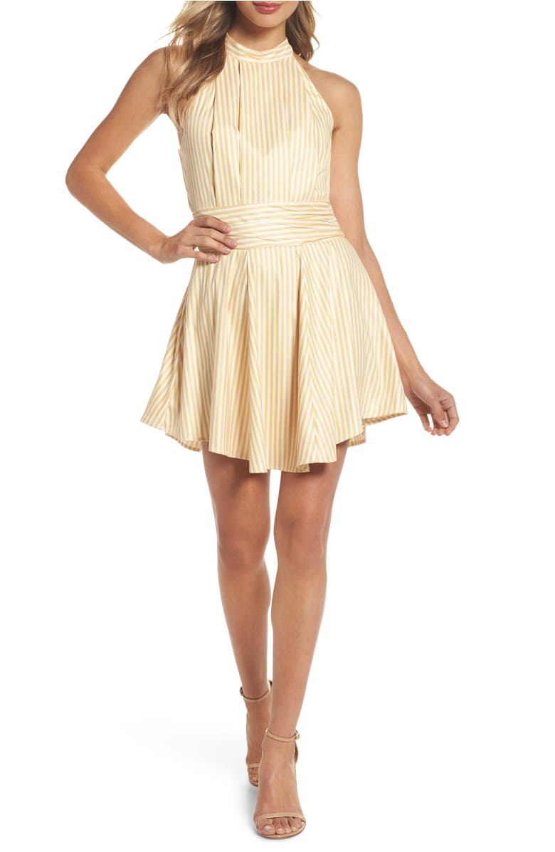 C/meo Collective BELIEVE IN ME HALTER NECK PARTY DRESS
