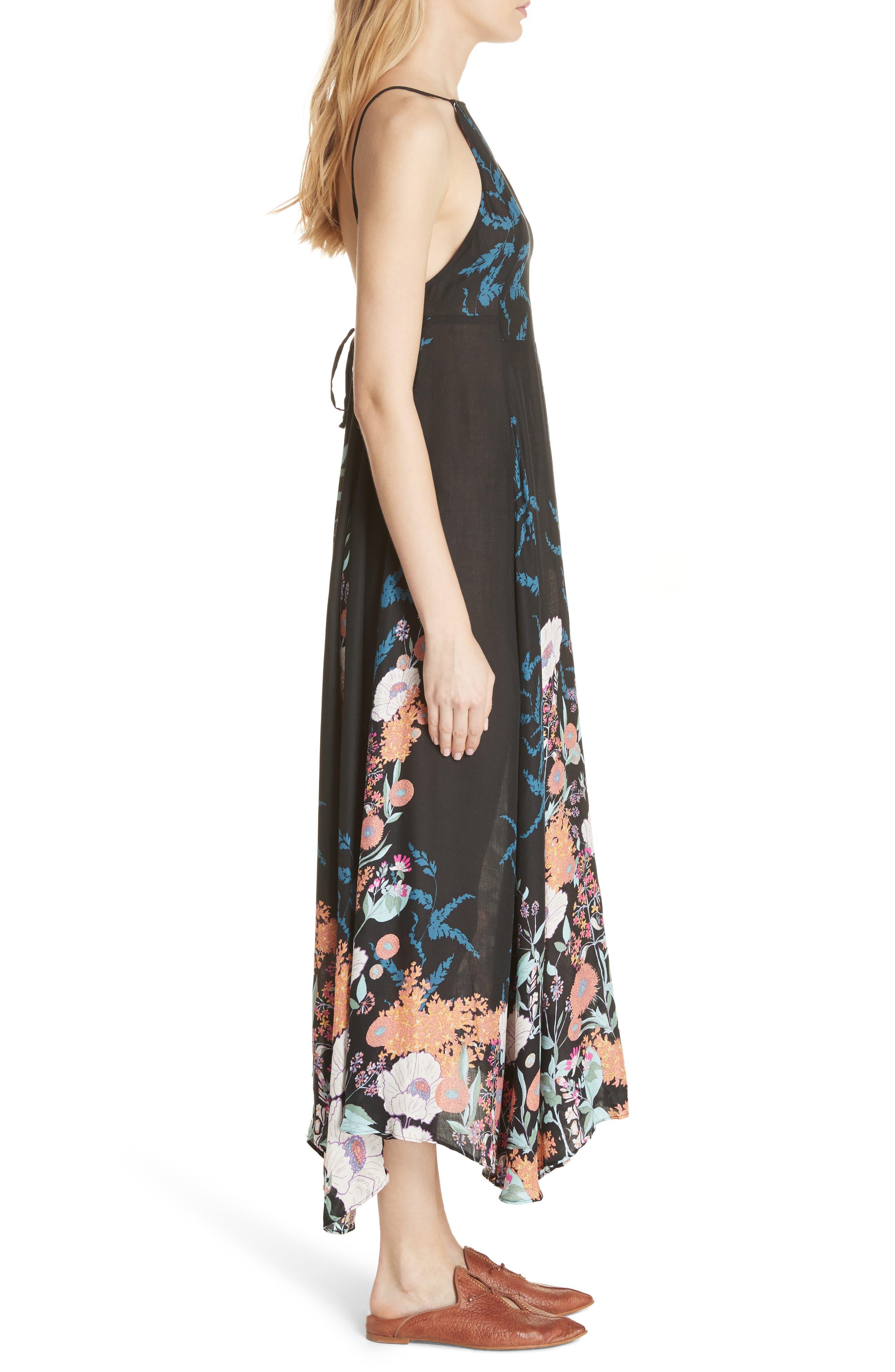 Embrace It Maxi Dress,                             Alternate thumbnail 3, color,                             Black Combo