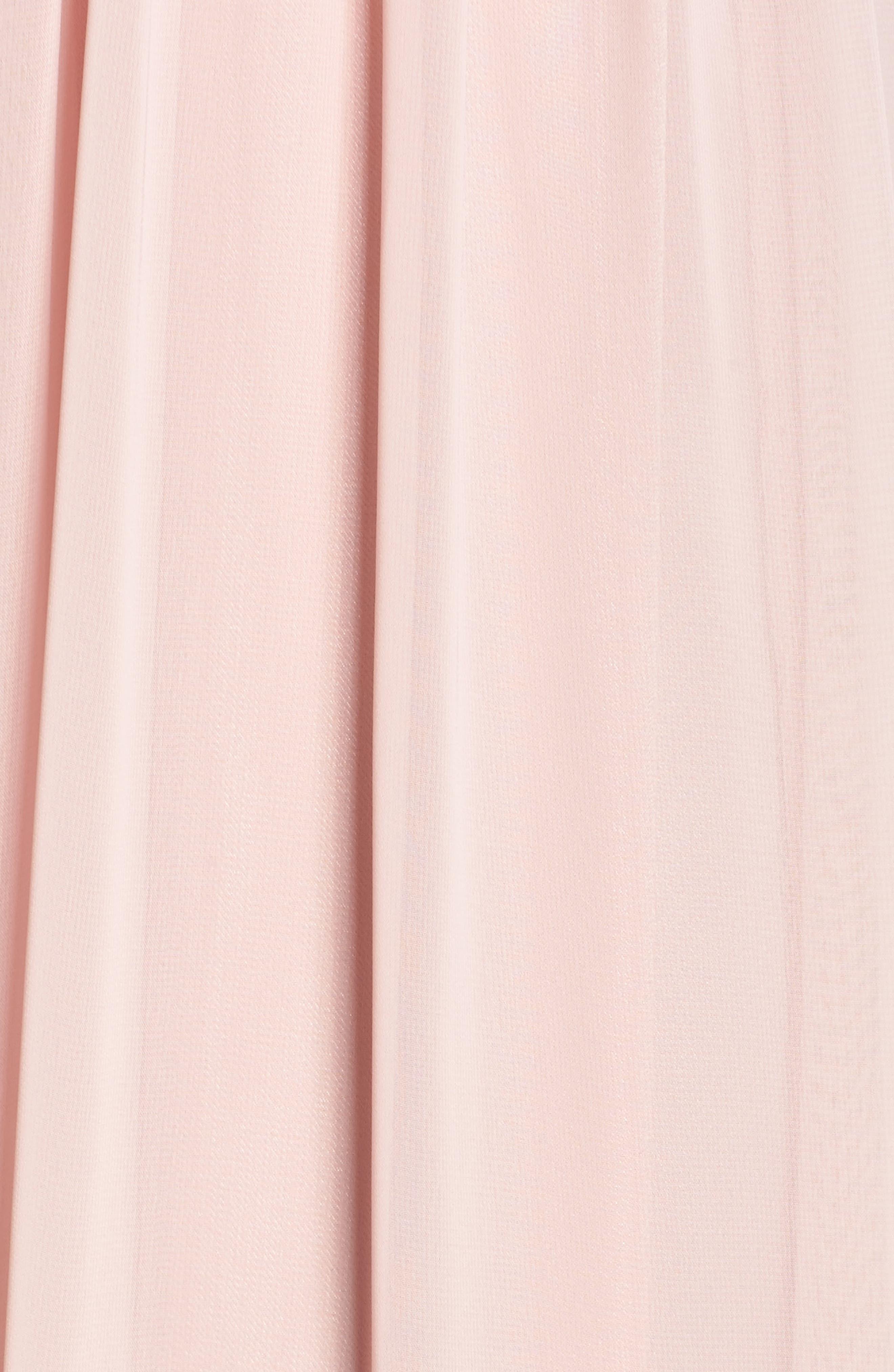 Beaded Halter Gown,                             Alternate thumbnail 5, color,                             Blush