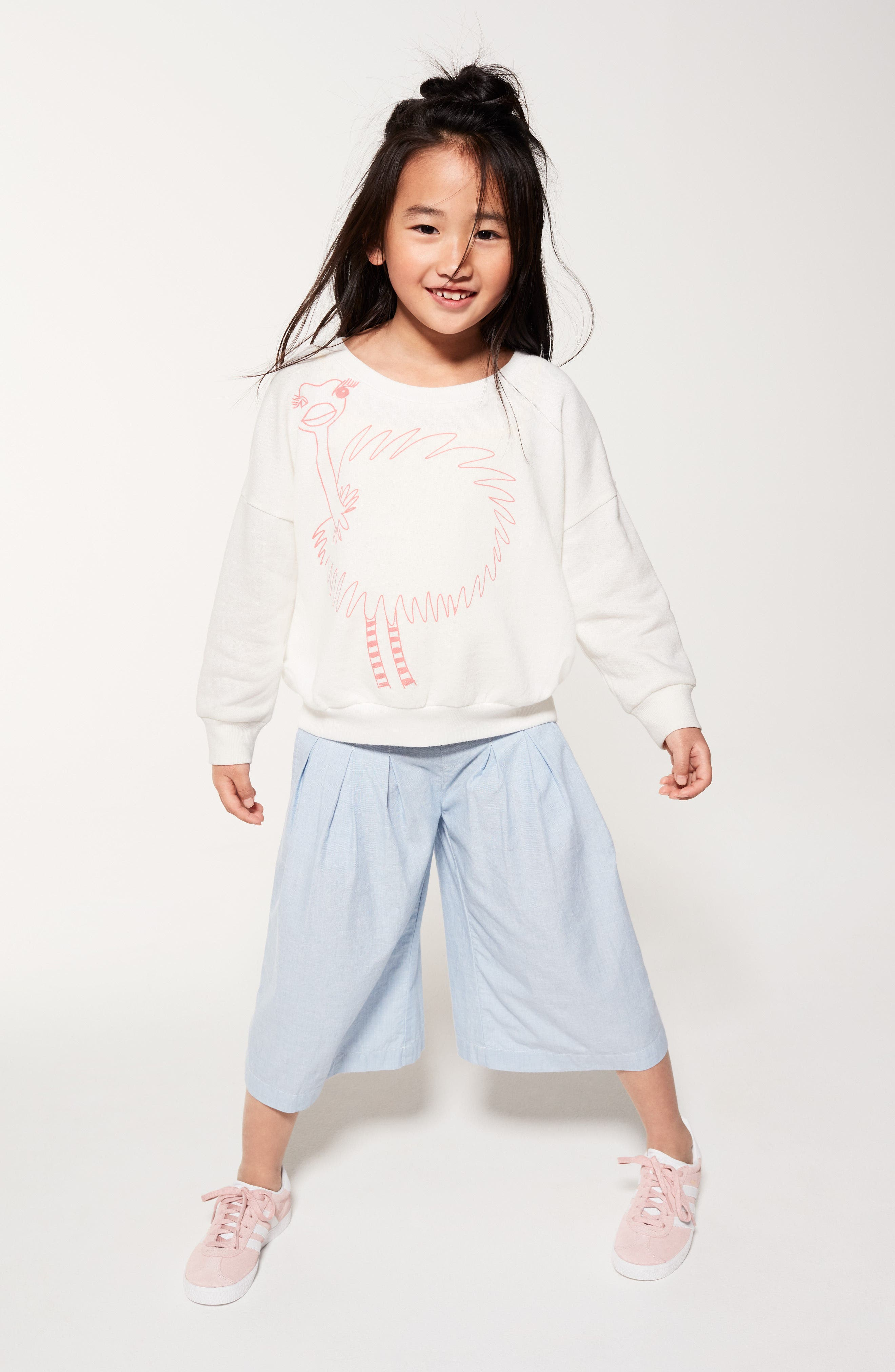 Alternate Image 5  - Stem Ostrich Graphic Sweatshirt (Toddler Girls, Little Girls & Big Girls)