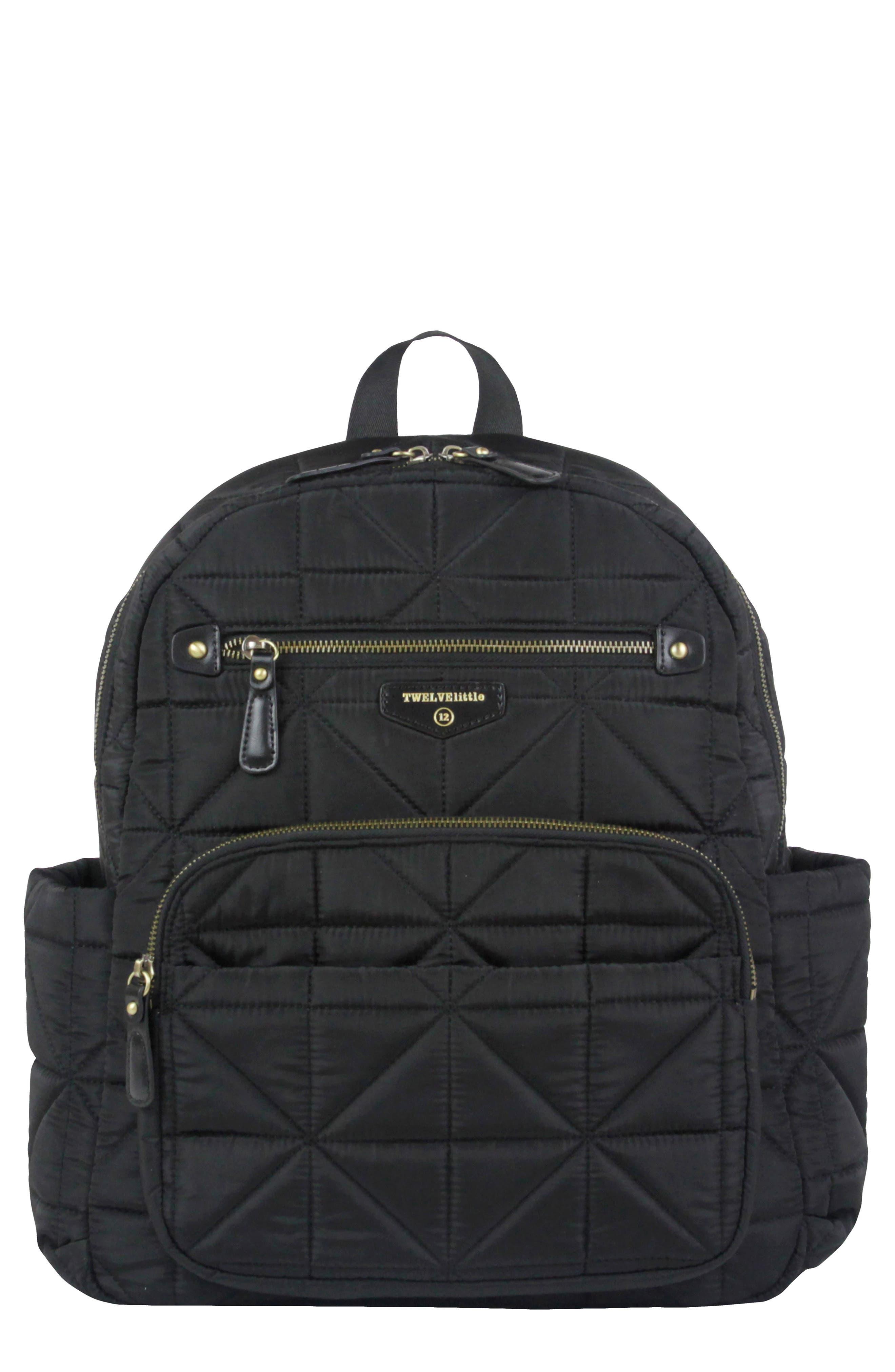 Main Image - TWELVElittle Quilted Water Resistant Nylon Diaper Backpack