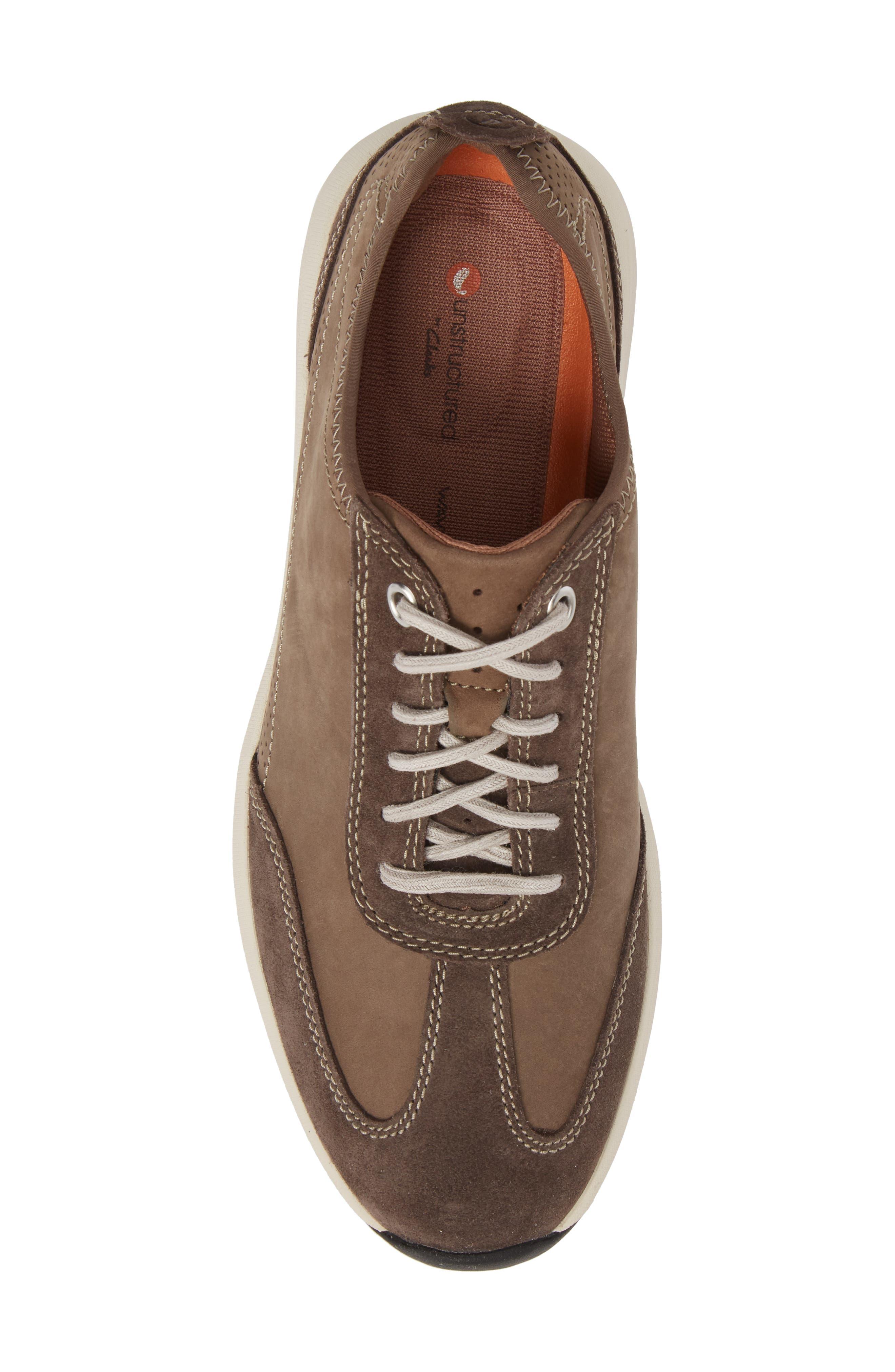Clarks<sup>®</sup> Un Coast Low Top Sneaker,                             Alternate thumbnail 5, color,                             Taupe Nubuck