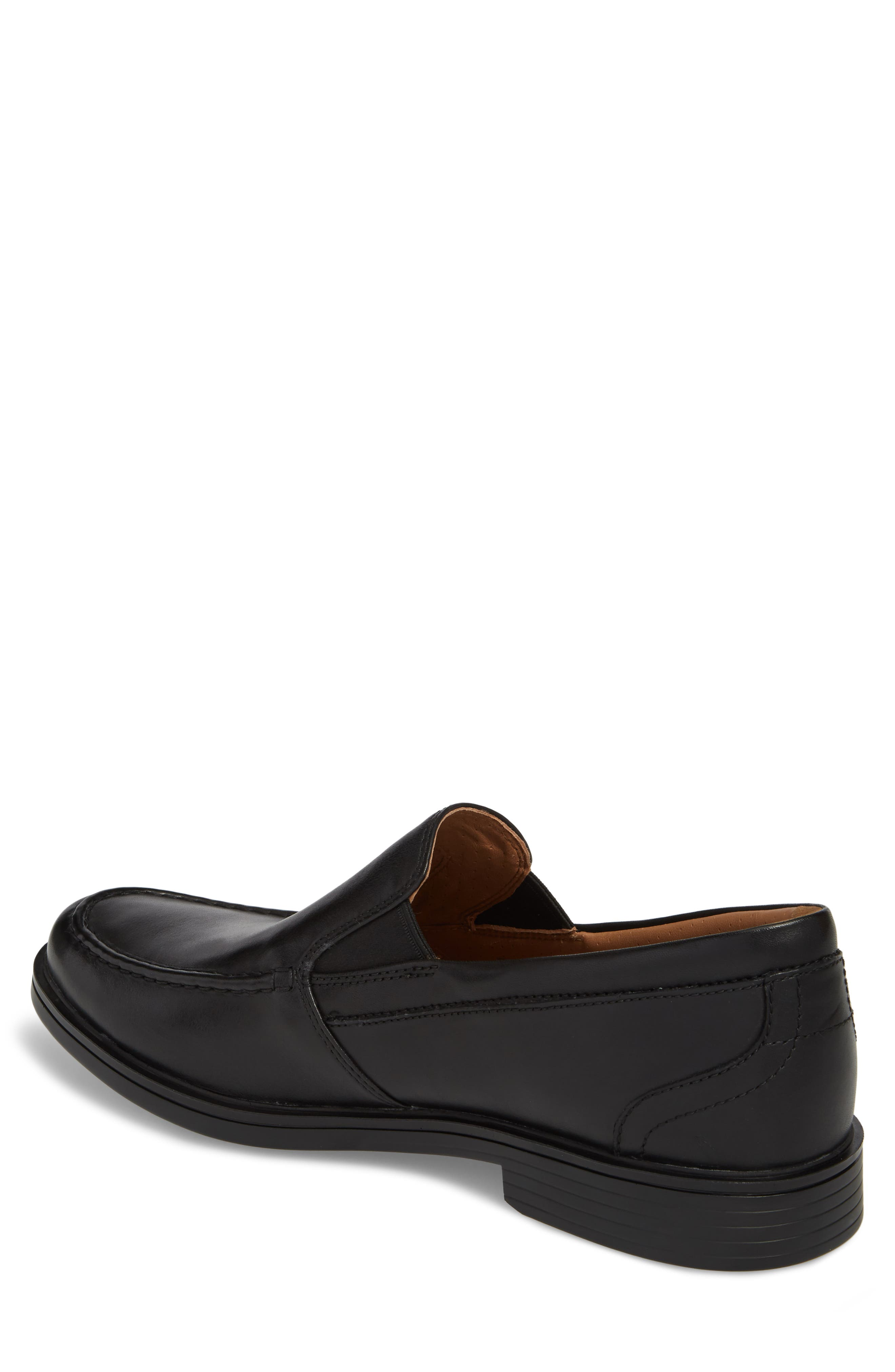 Unaldric Apron Toe Loafer,                             Alternate thumbnail 2, color,                             Black Leather