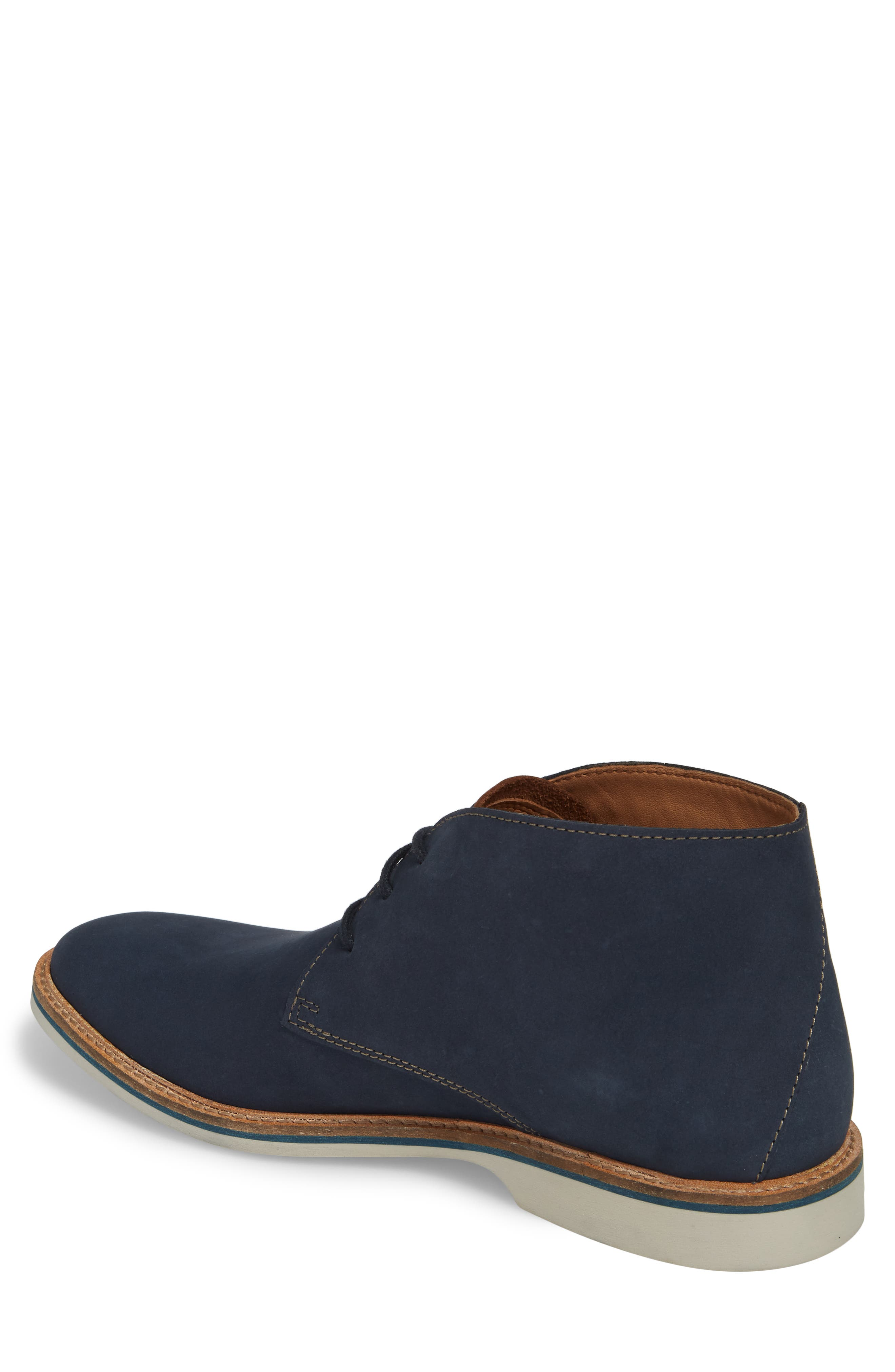 Clarks<sup>®</sup> Atticus Limit Chukka Boot,                             Alternate thumbnail 2, color,                             Navy Nubuck