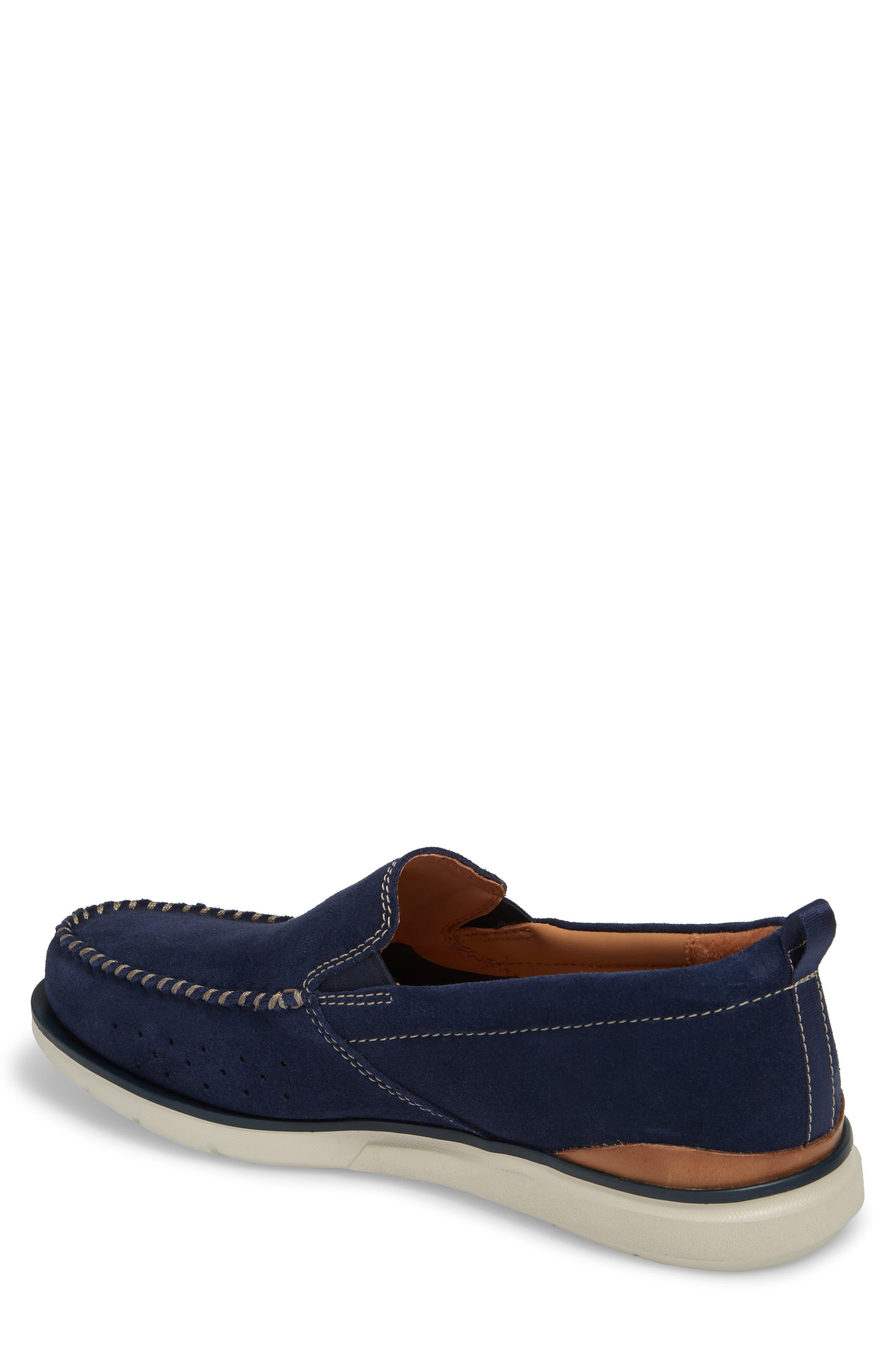 Edgewood Step Moc Toe Loafer,                             Alternate thumbnail 2, color,                             Blue Suede