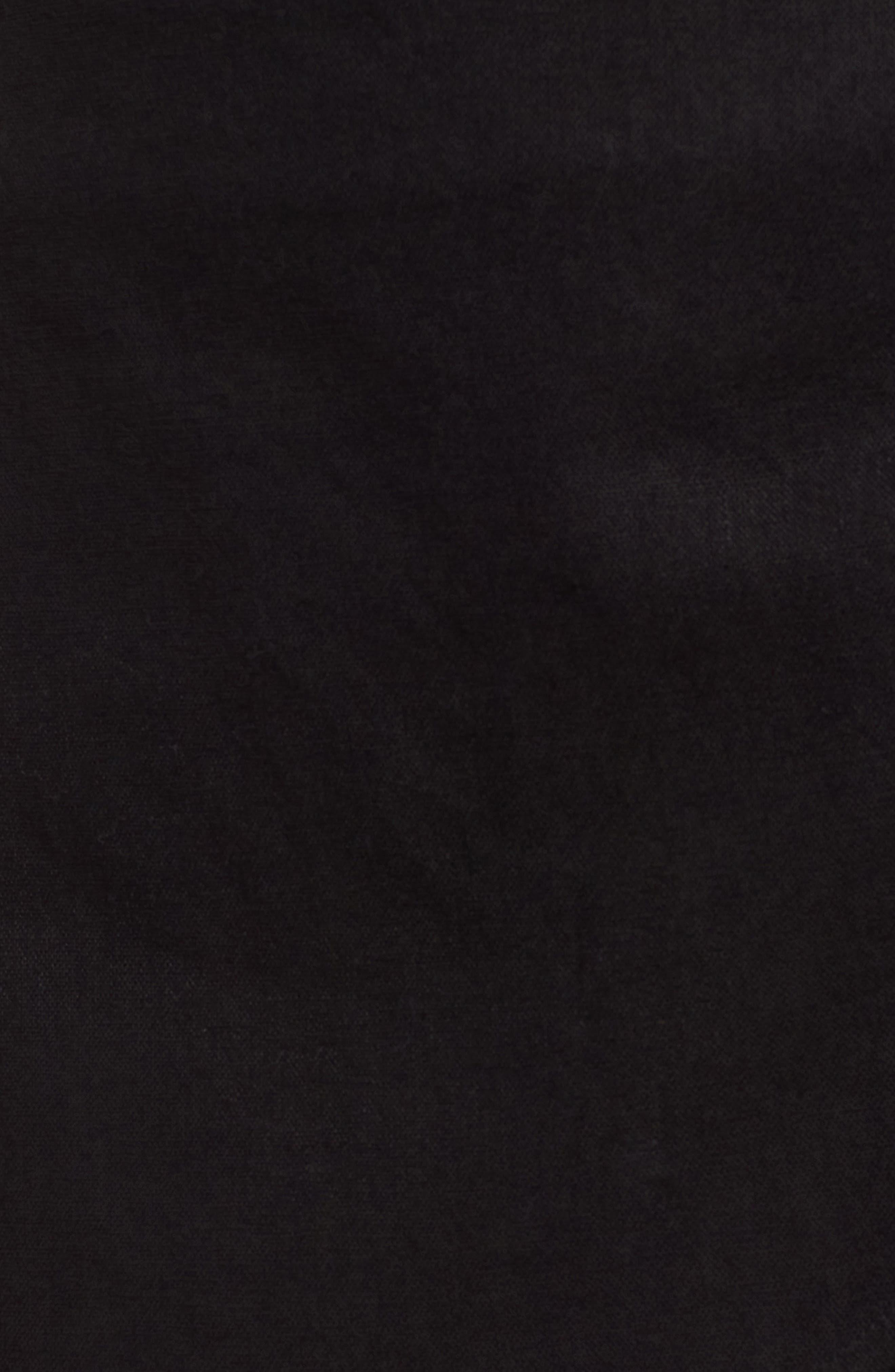 Side Tie Skort,                             Alternate thumbnail 5, color,                             Black