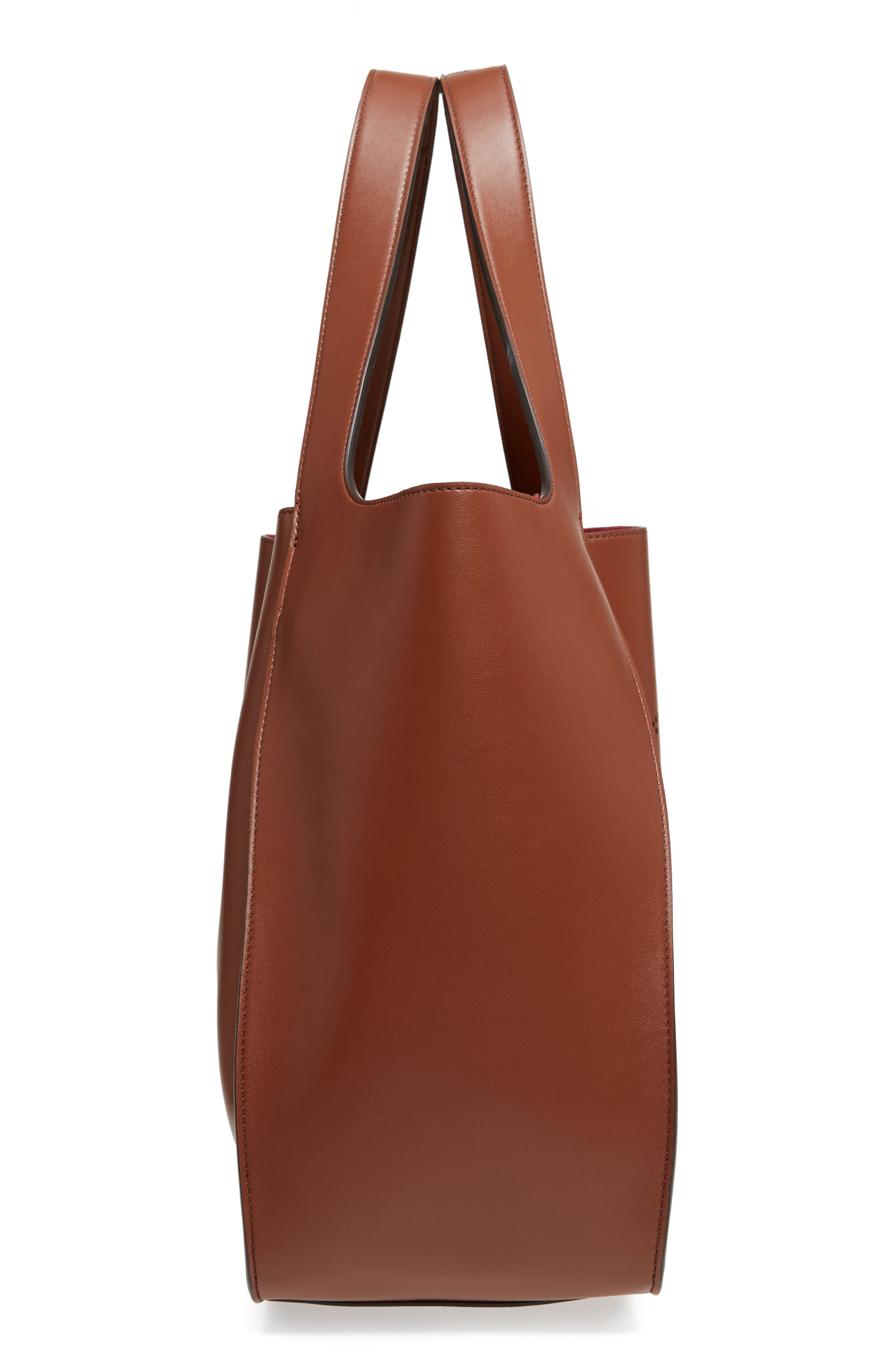 Alternate Image 5  - Stella McCartney Medium Perforated Logo Faux Leather Tote