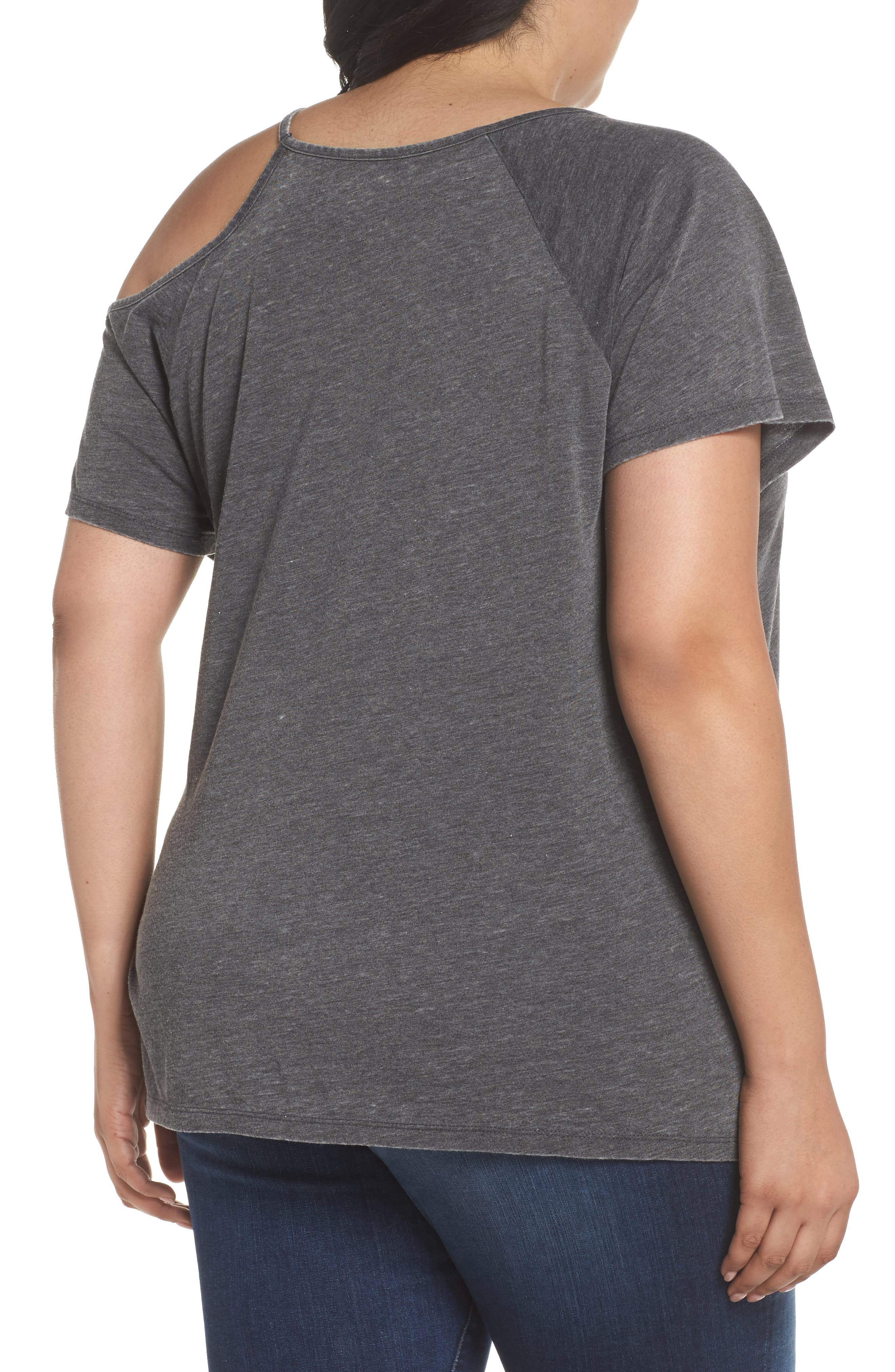 Alternate Image 2  - Lucky Brand Journey Cold Shoulder Tee (Plus Size)