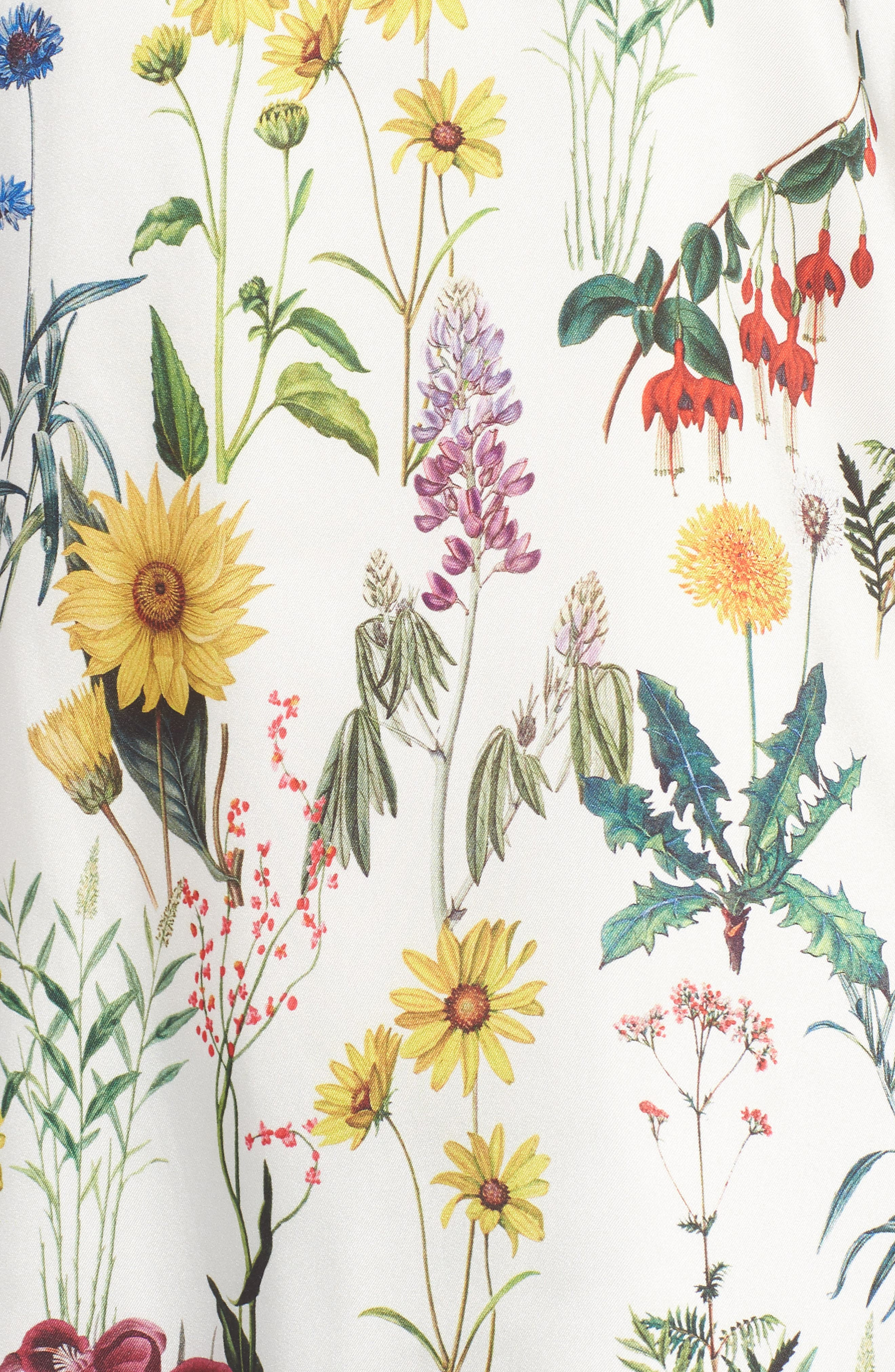 Botanical Off the Shoulder Top,                             Alternate thumbnail 6, color,                             Botanical Print/ Chalk