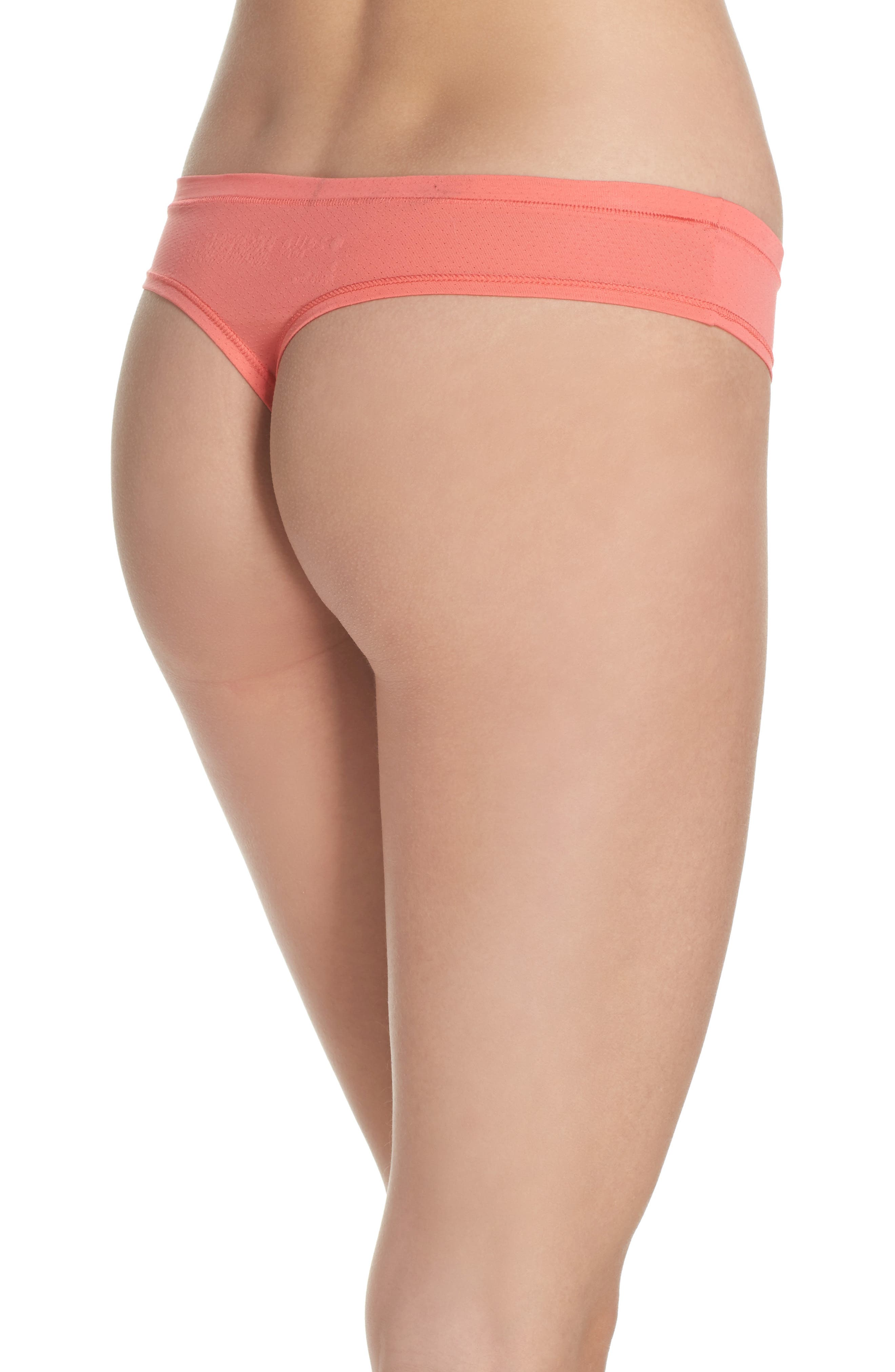 Alternate Image 2  - Zella Body Perforated Active Thong (3 for $33)