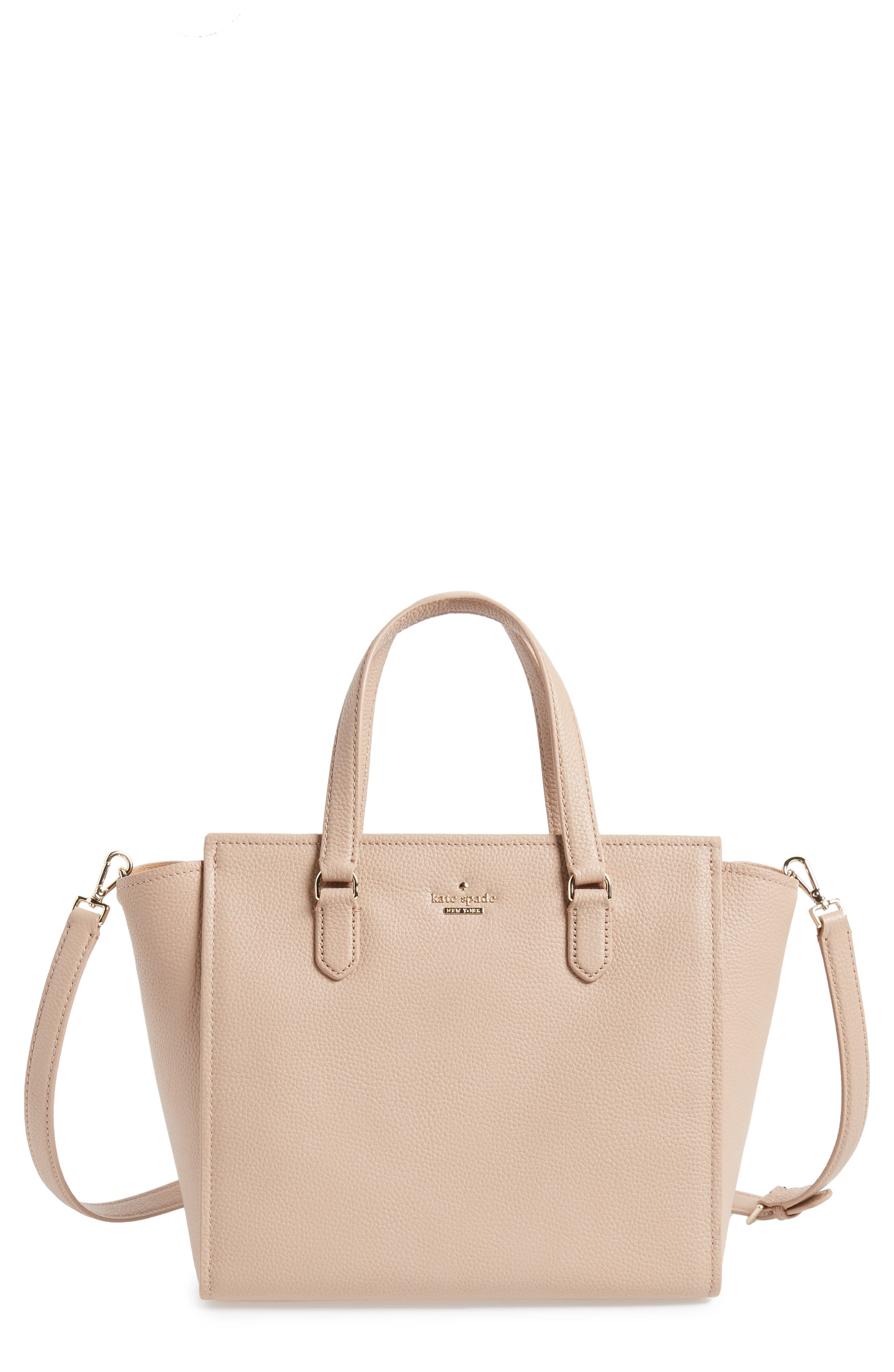 trent hill - hayden leather satchel,                         Main,                         color, Ginger Tea