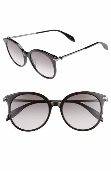 9a55f8f255018 Alexander McQueen 54mm Gradient Lens Round Sunglasses