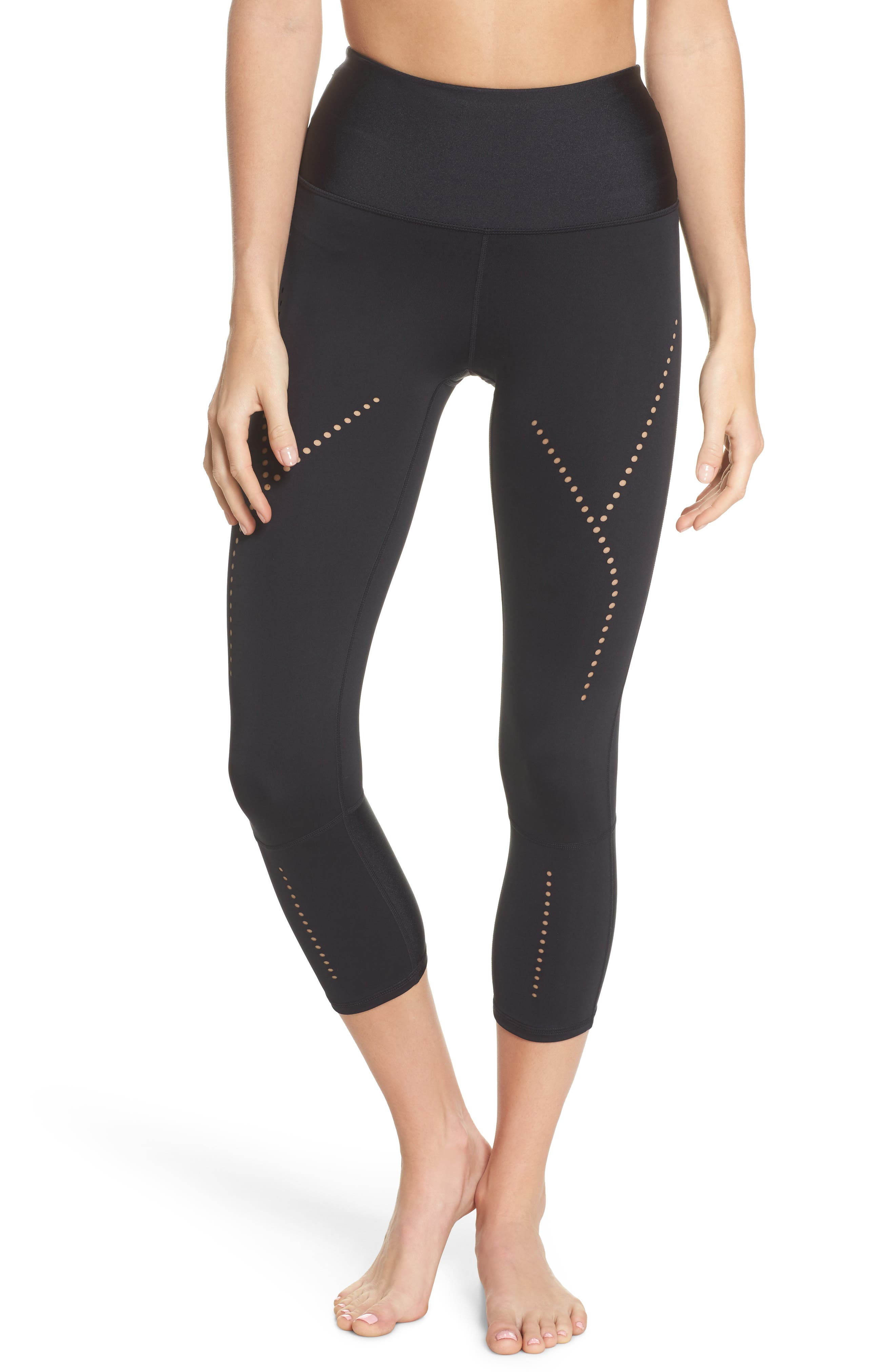 Starry Eyed High-Waist Crop Leggings,                         Main,                         color, Black